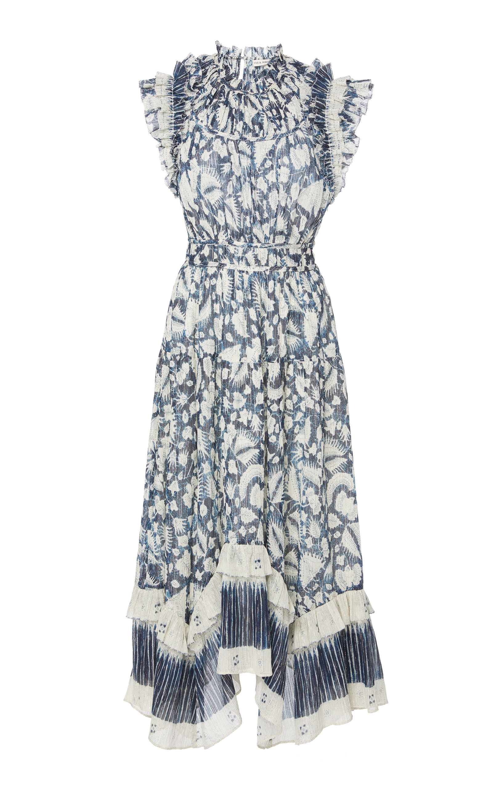 Buy Ulla Johnson Amalia Floral-Print Cotton and Silk-Blend Midi Dress online, shop Ulla Johnson at the best price