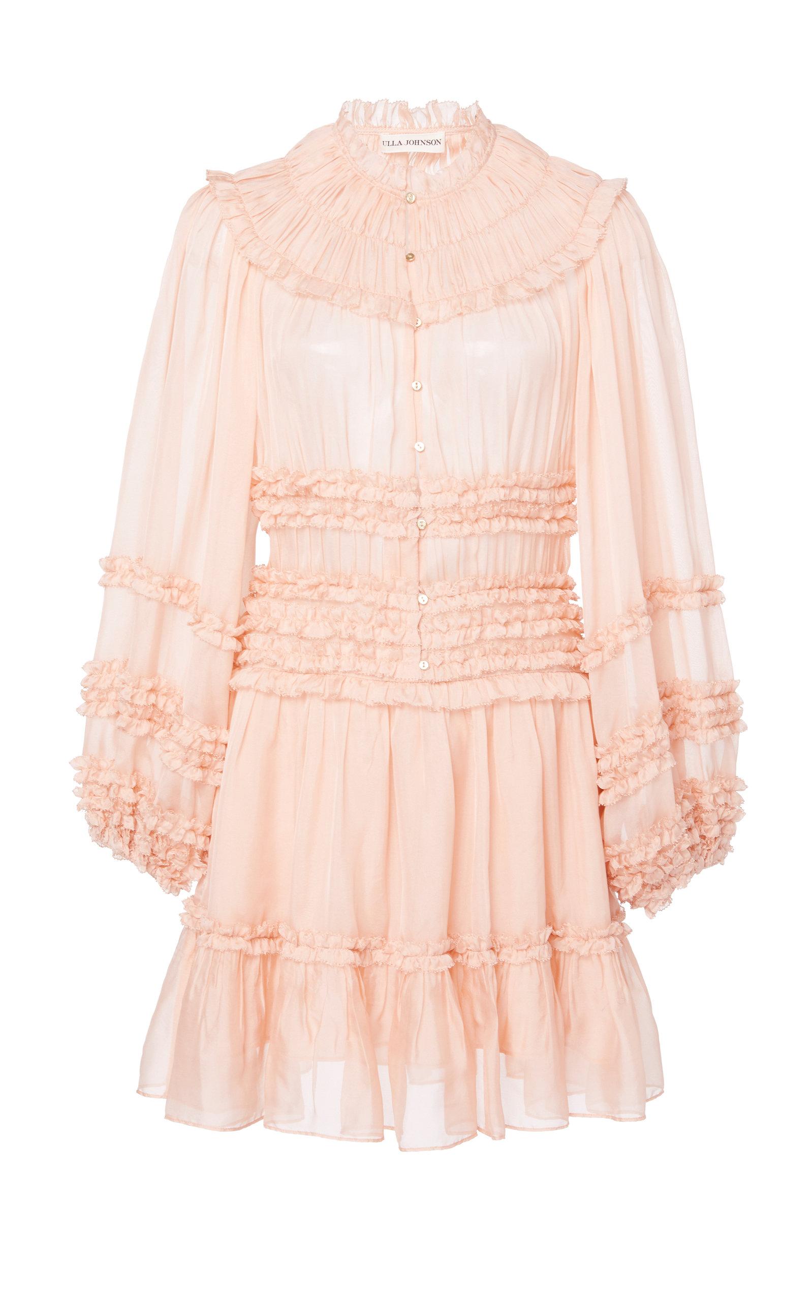 Buy Ulla Johnson Abilene Ruffled Silk Dress online, shop Ulla Johnson at the best price