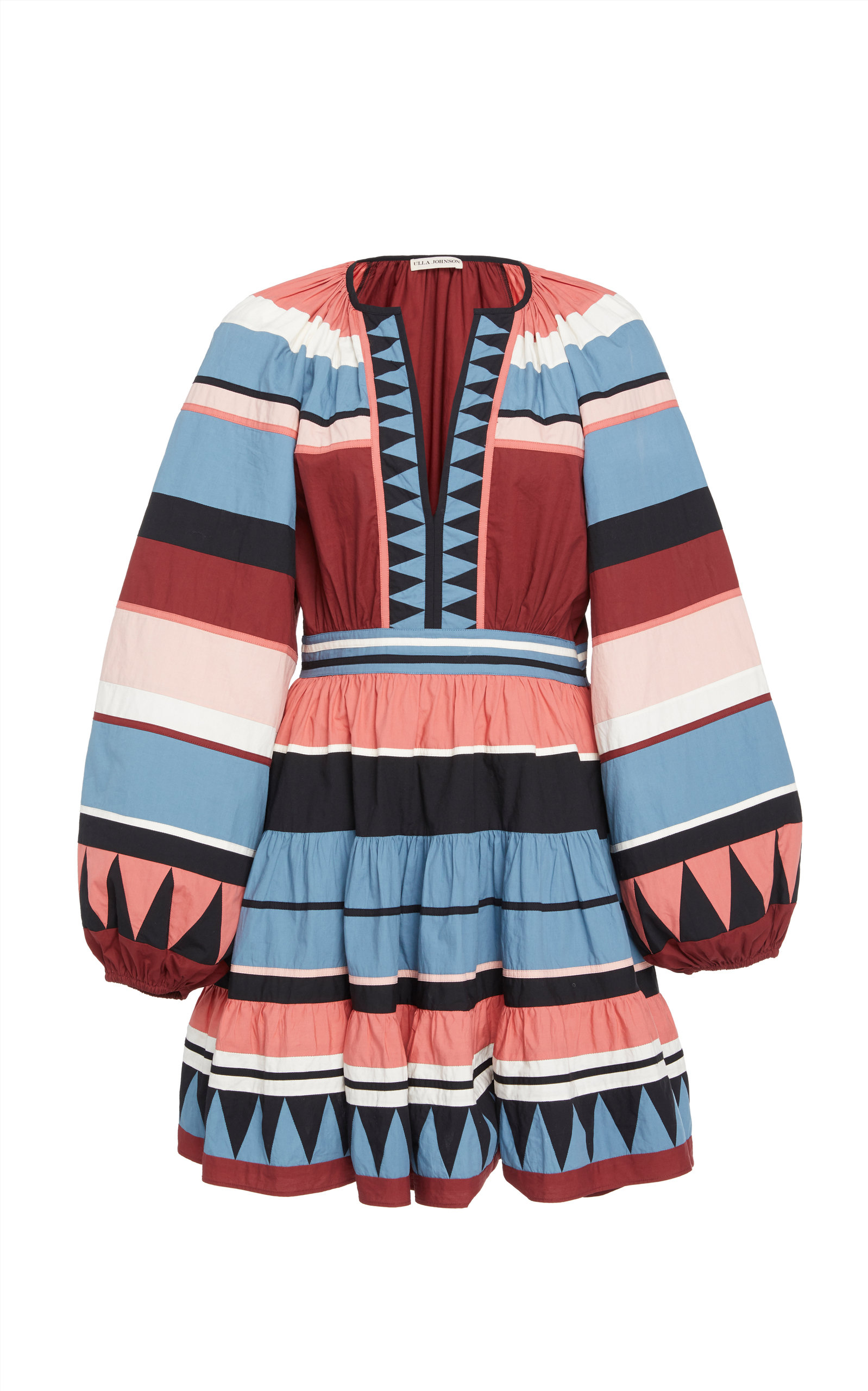 Buy Ulla Johnson Mika Printed Cotton Mini Dress online, shop Ulla Johnson at the best price