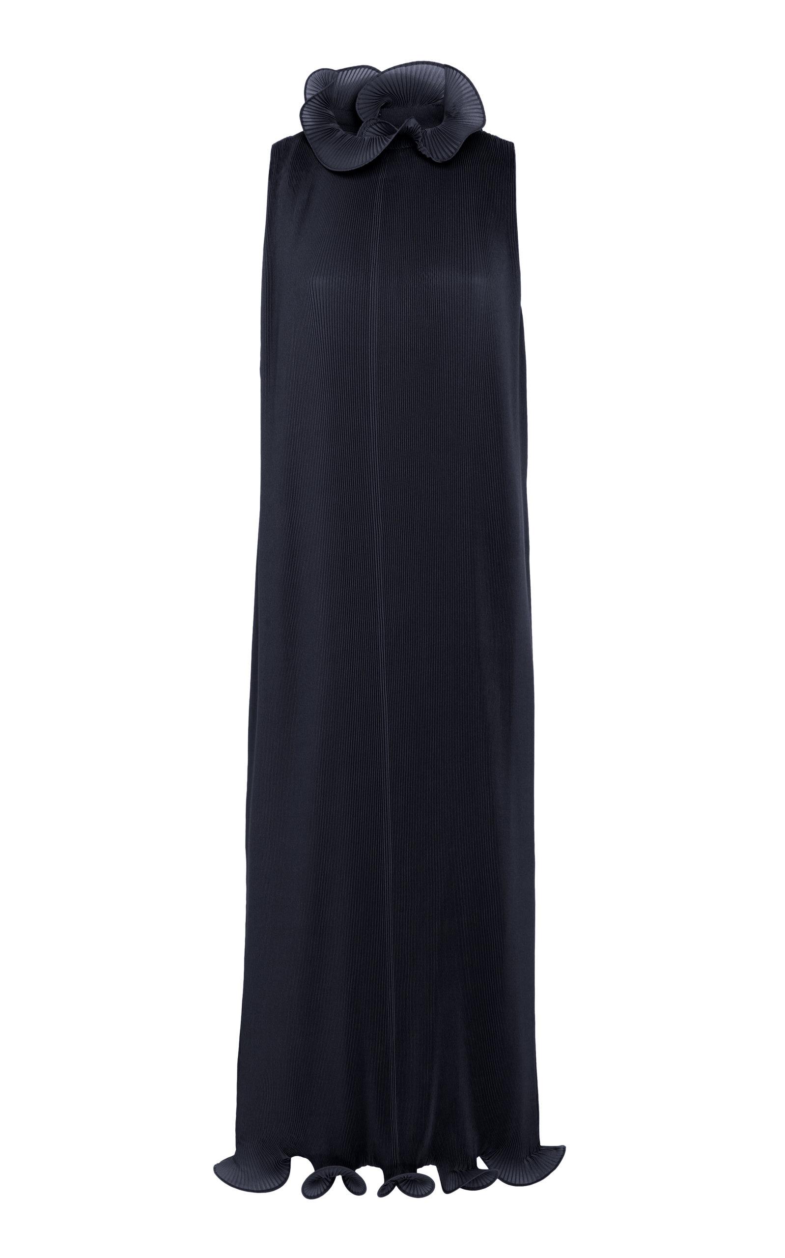 Buy Tibi Pleated Ruffled Plissé Midi Dress online, shop Tibi at the best price