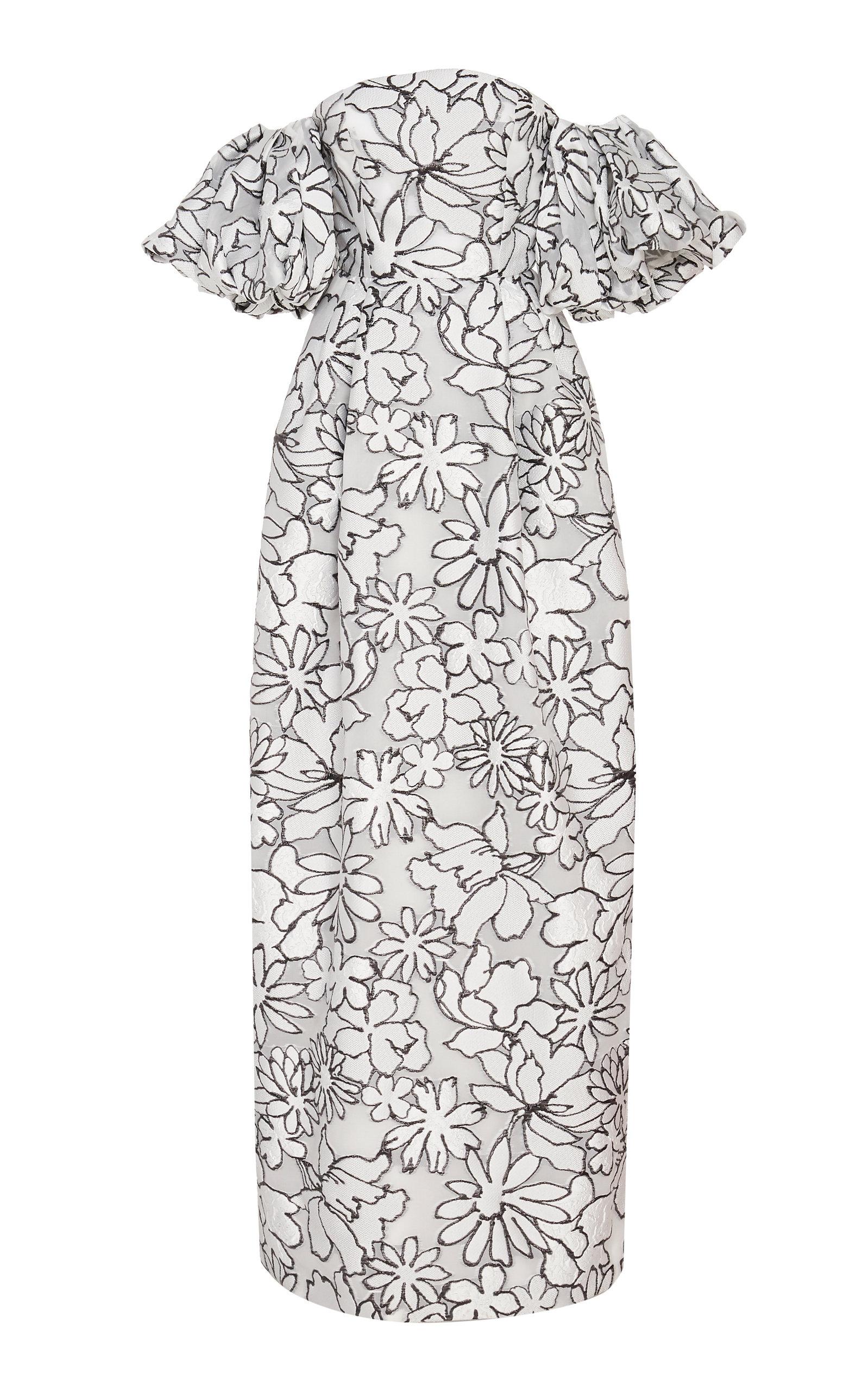 Buy Prabal Gurung Floral Print Puff Sleeve Gown online, shop Prabal Gurung at the best price
