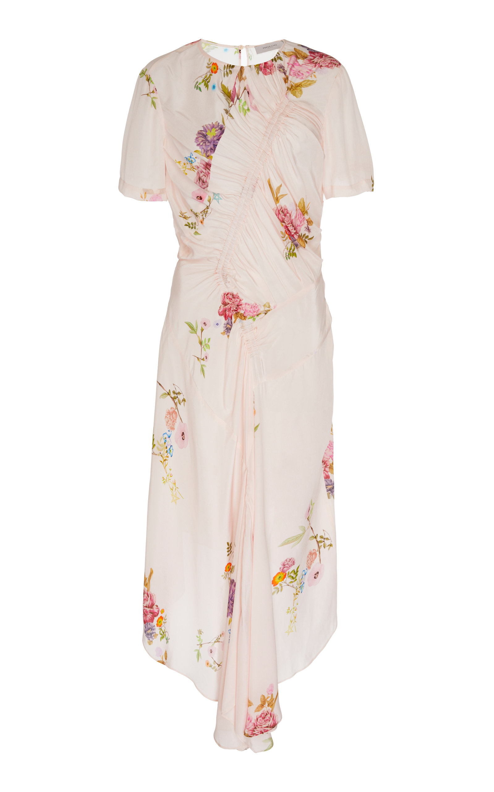 Buy Preen Line Shae Ruched Floral-Print Crepe Midi Dress online, shop Preen Line at the best price