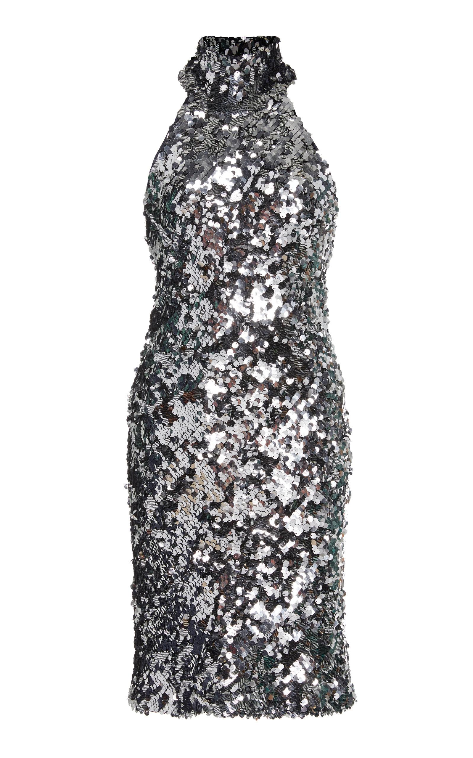 Buy Galvan Gemma Sequined Jersey Mini Dress online, shop Galvan at the best price