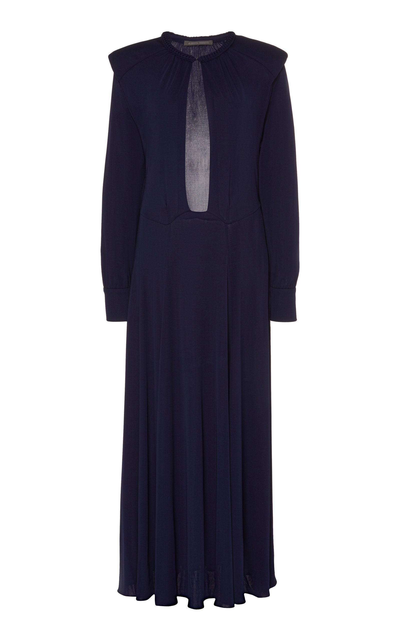 Buy Alberta Ferretti Cut-Out Silk-Effect Dress online, shop Alberta Ferretti at the best price
