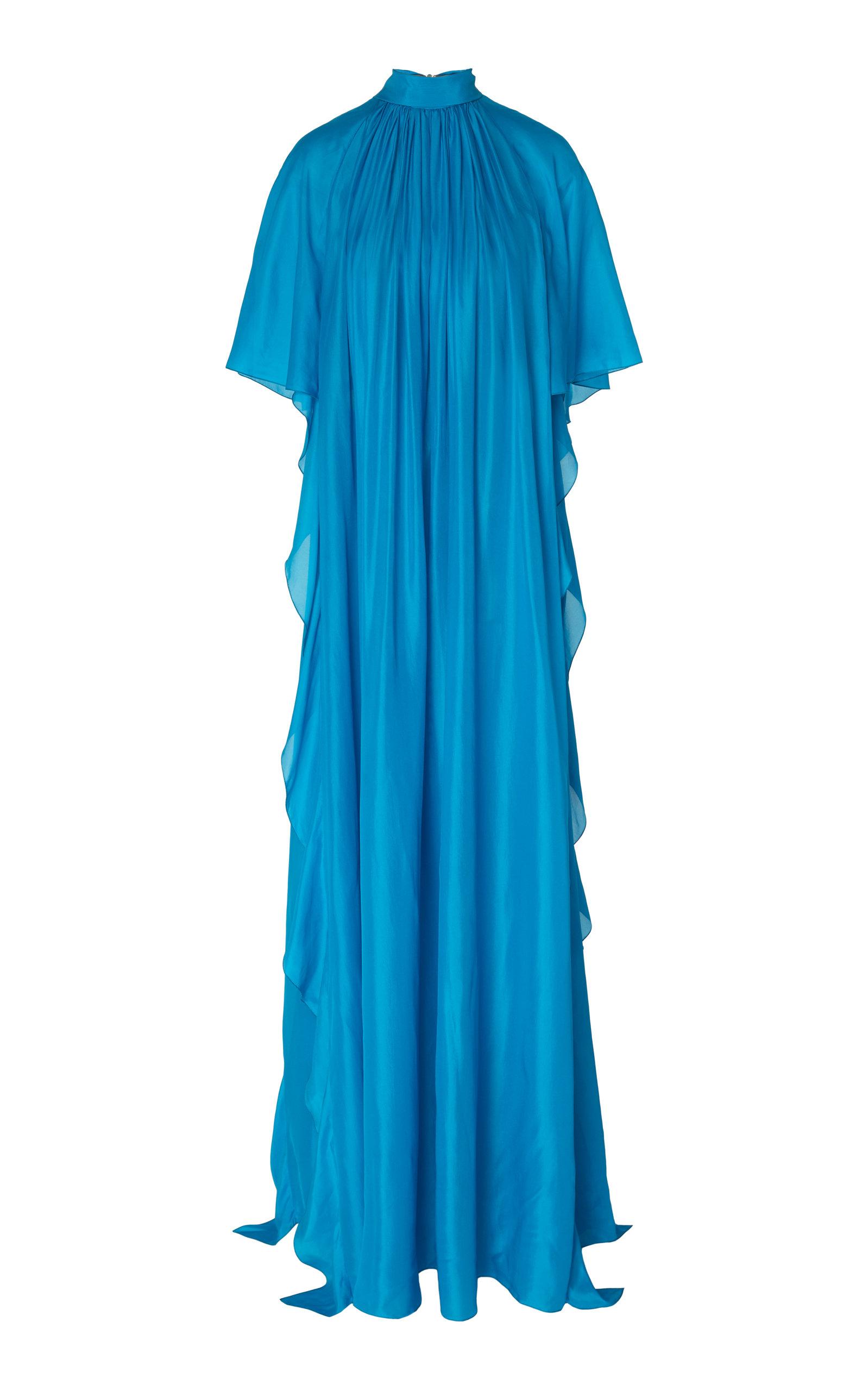 Buy Alberta Ferretti Plissé Silk-Satin Gown online, shop Alberta Ferretti at the best price