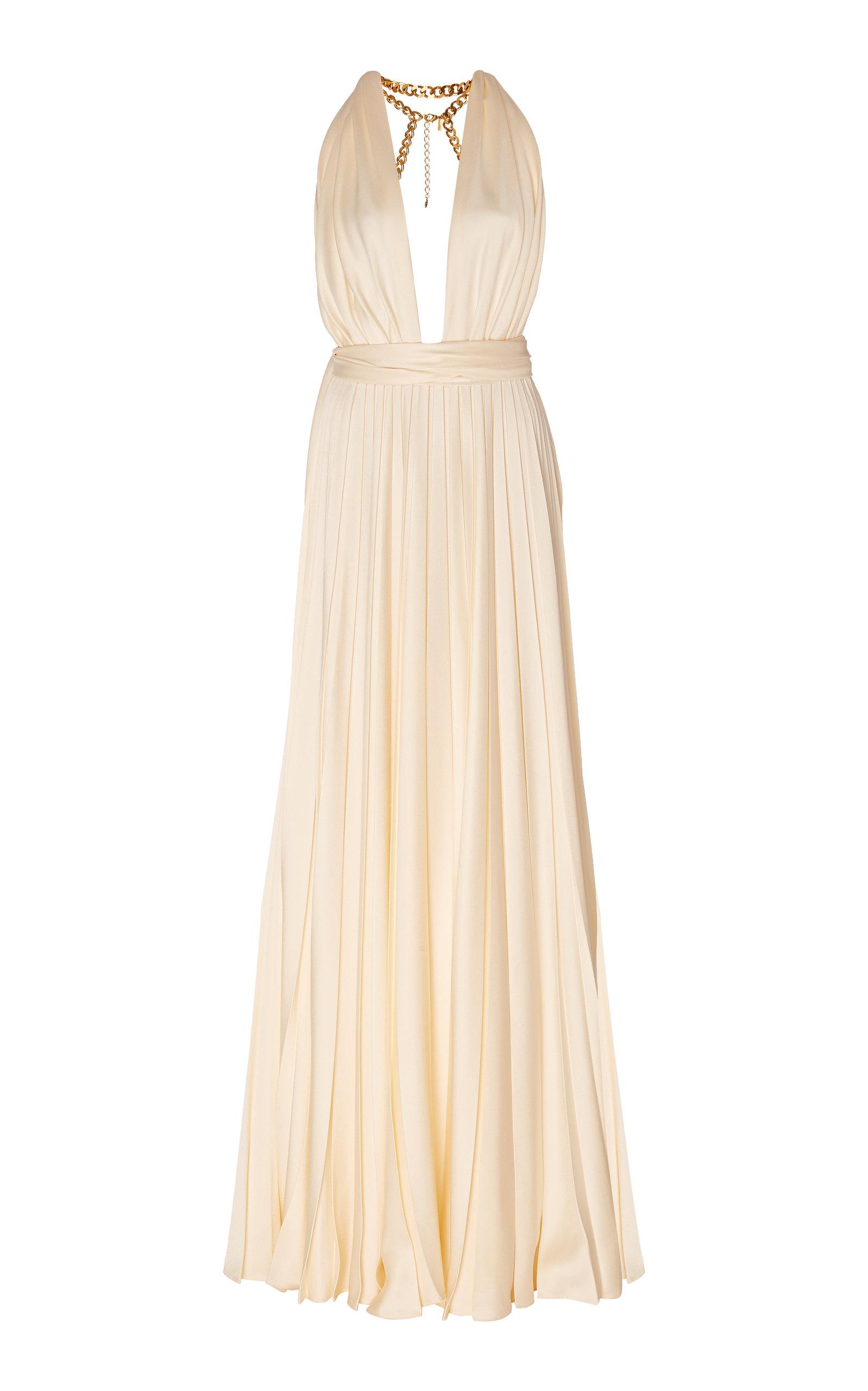 Buy Oscar de la Renta Embellished Gathered Cady Gown online, shop Oscar de la Renta at the best price