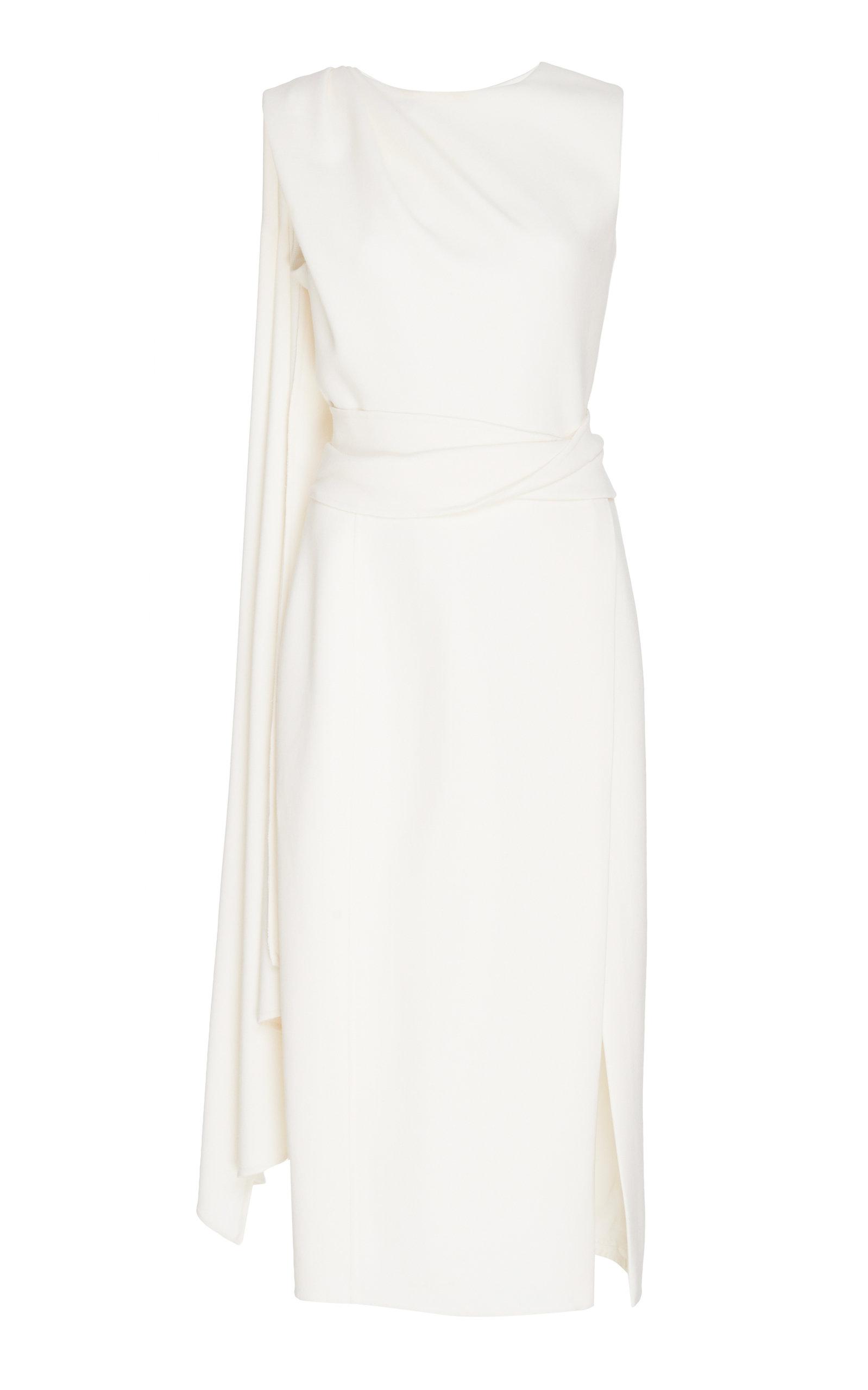 Buy Oscar de la Renta Wool-Blend Midi Dress online, shop Oscar de la Renta at the best price