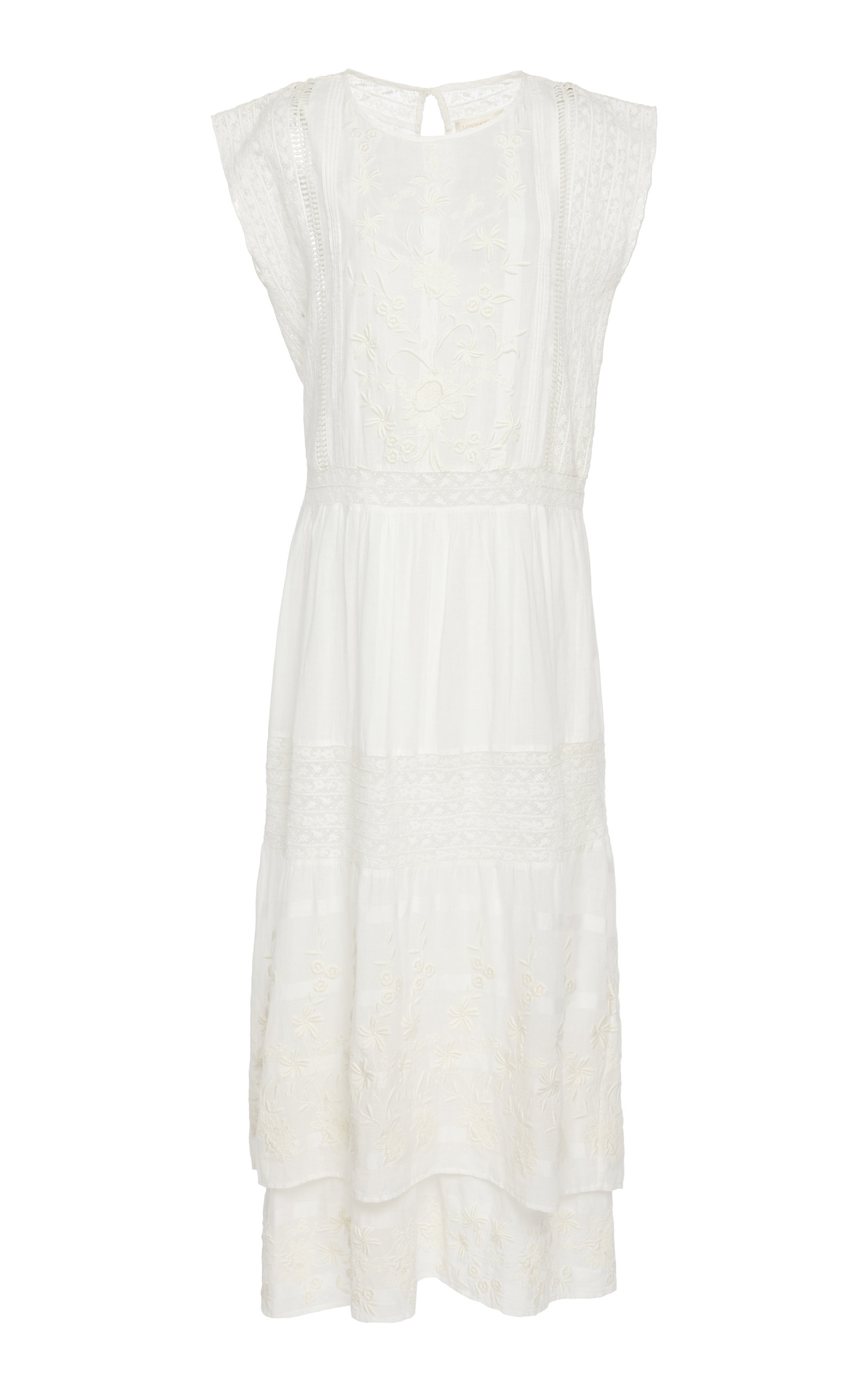 Buy LoveShackFancy Cameron Shift Maxi Dress online, shop LoveShackFancy at the best price