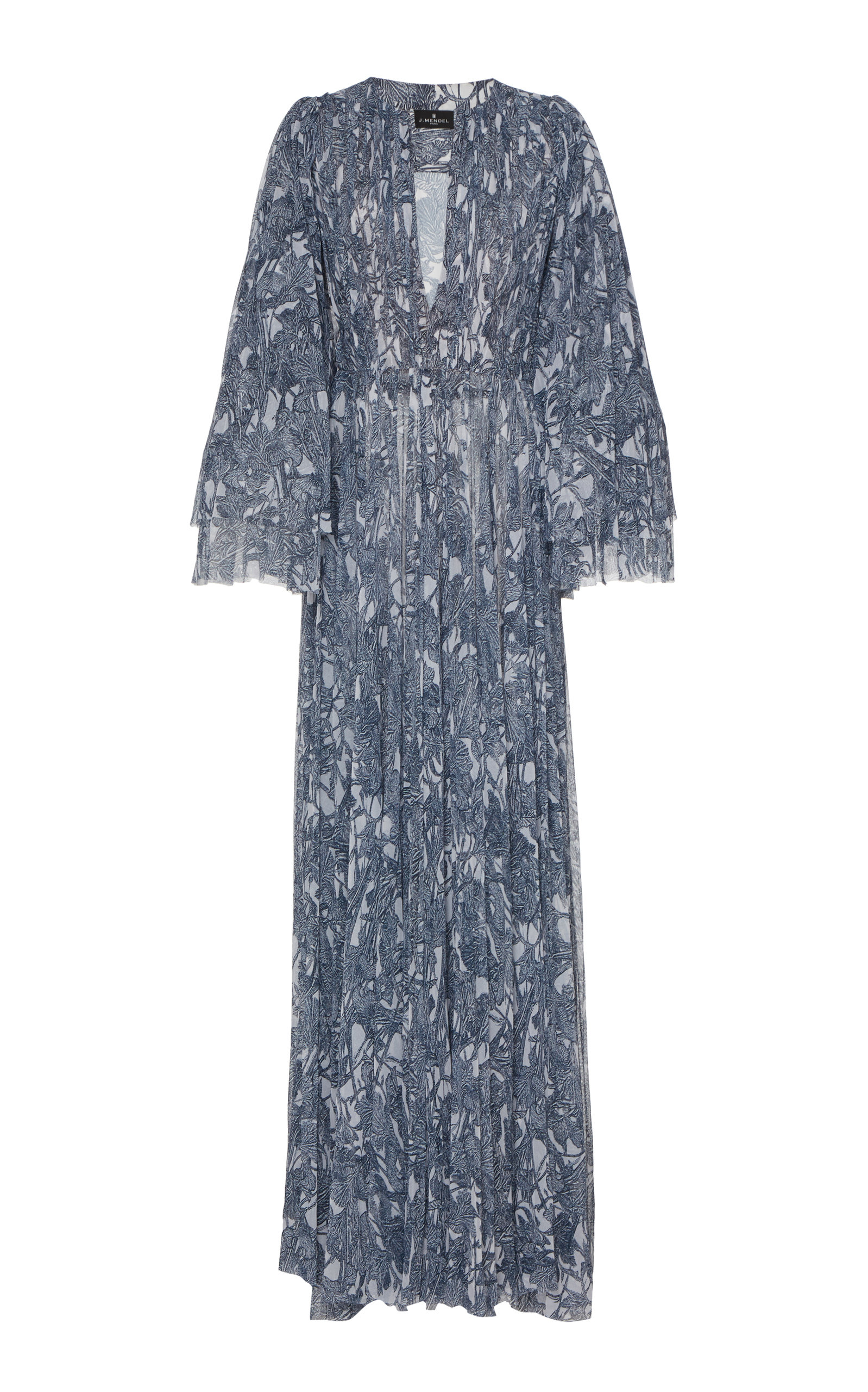 Buy J. Mendel Patterned Pleat-Accented Silk Gown online, shop J. Mendel at the best price