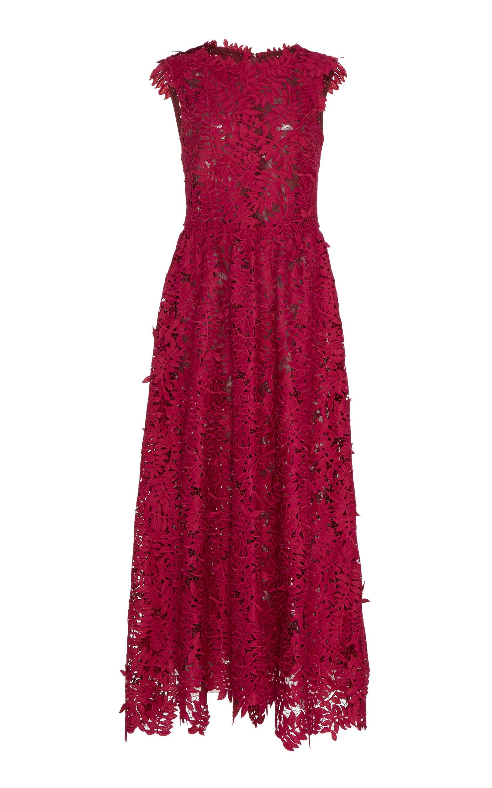 Buy J. Mendel Sleeveless Guipure Lace Midi Dress online, shop J. Mendel at the best price