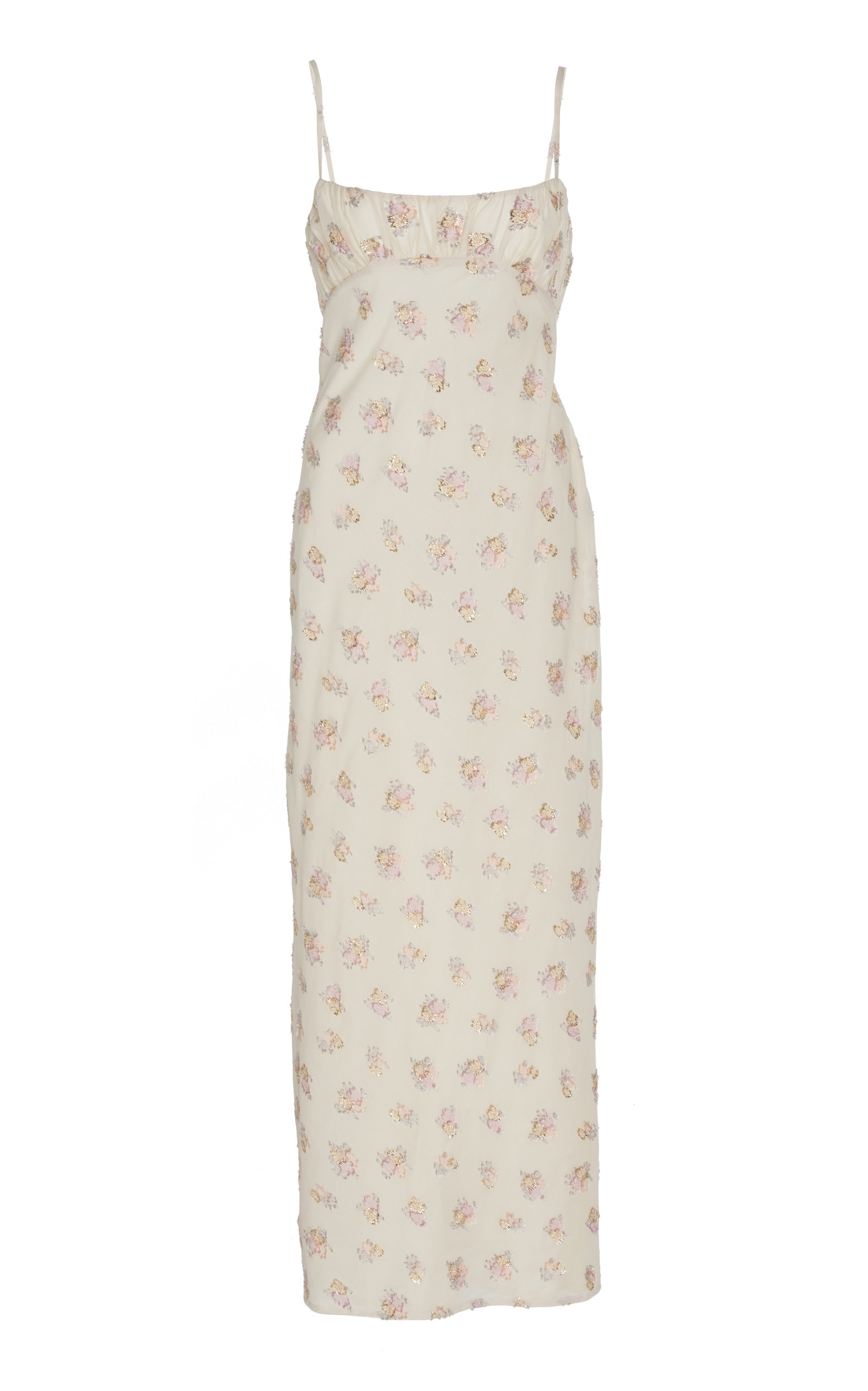 Buy Maggie Marilyn Dressed In Best Floral-Embroidered Cotton-Blend Midi Dr online, shop Maggie Marilyn at the best price