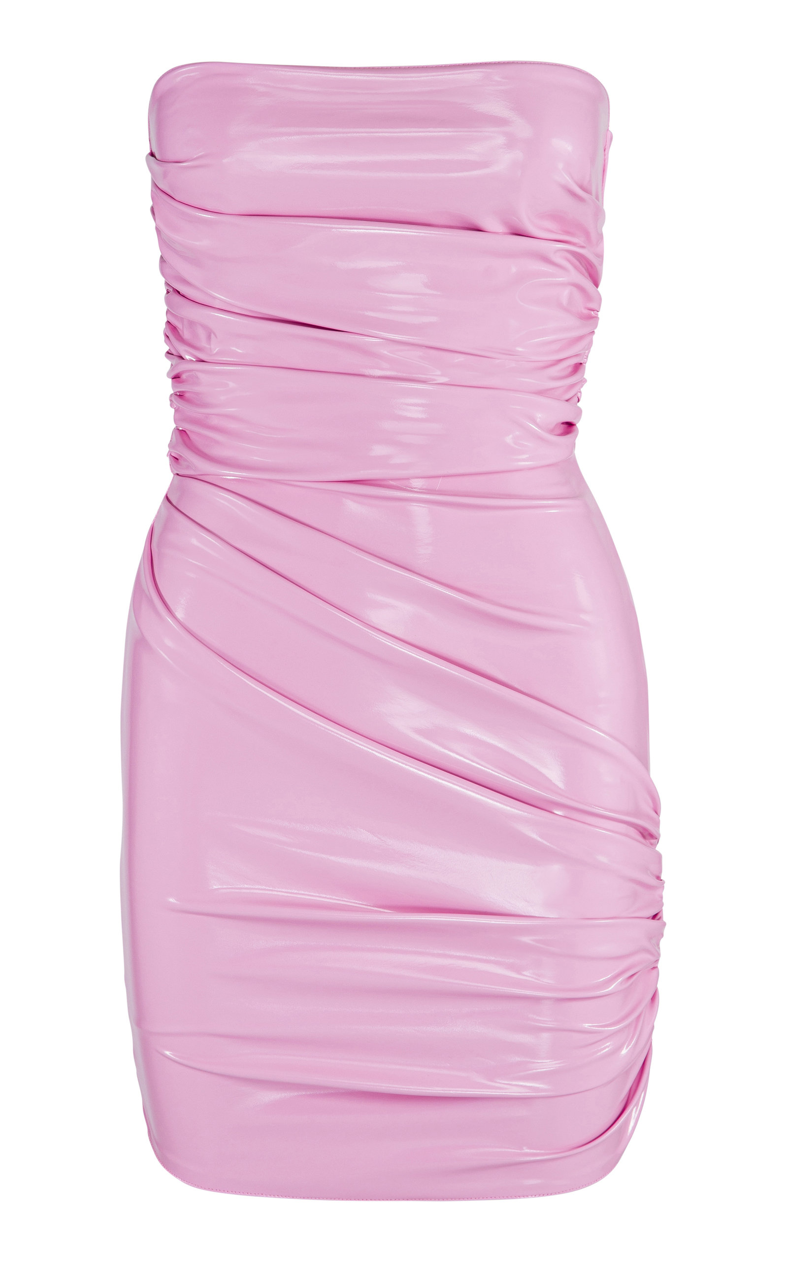 Buy Alex Perry Exclusive Harris Ruched Vinyl Mini Dress online, shop Alex Perry at the best price