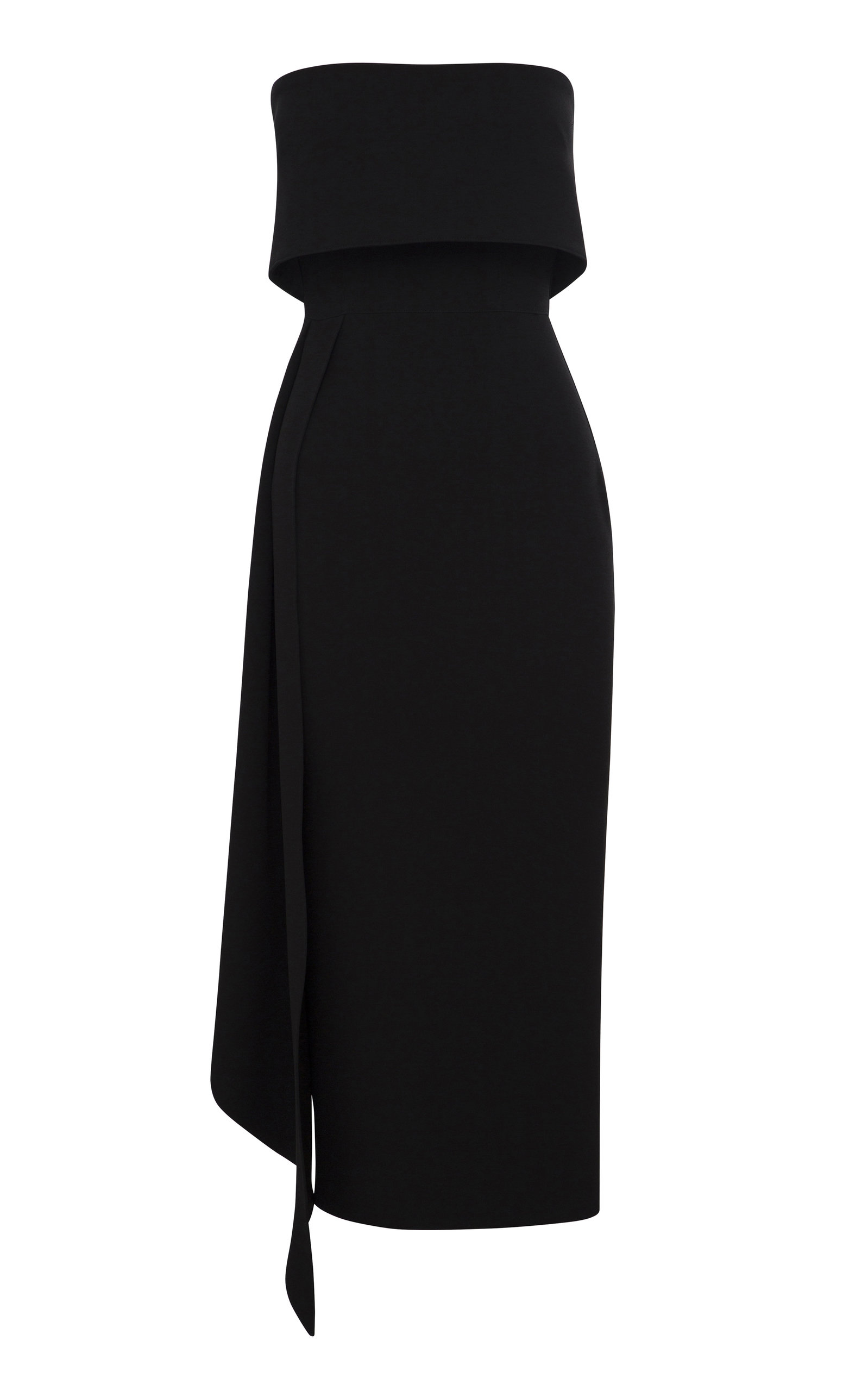 Buy Alex Perry Alexander Kick-Pleat Crepe Midi Dress online, shop Alex Perry at the best price