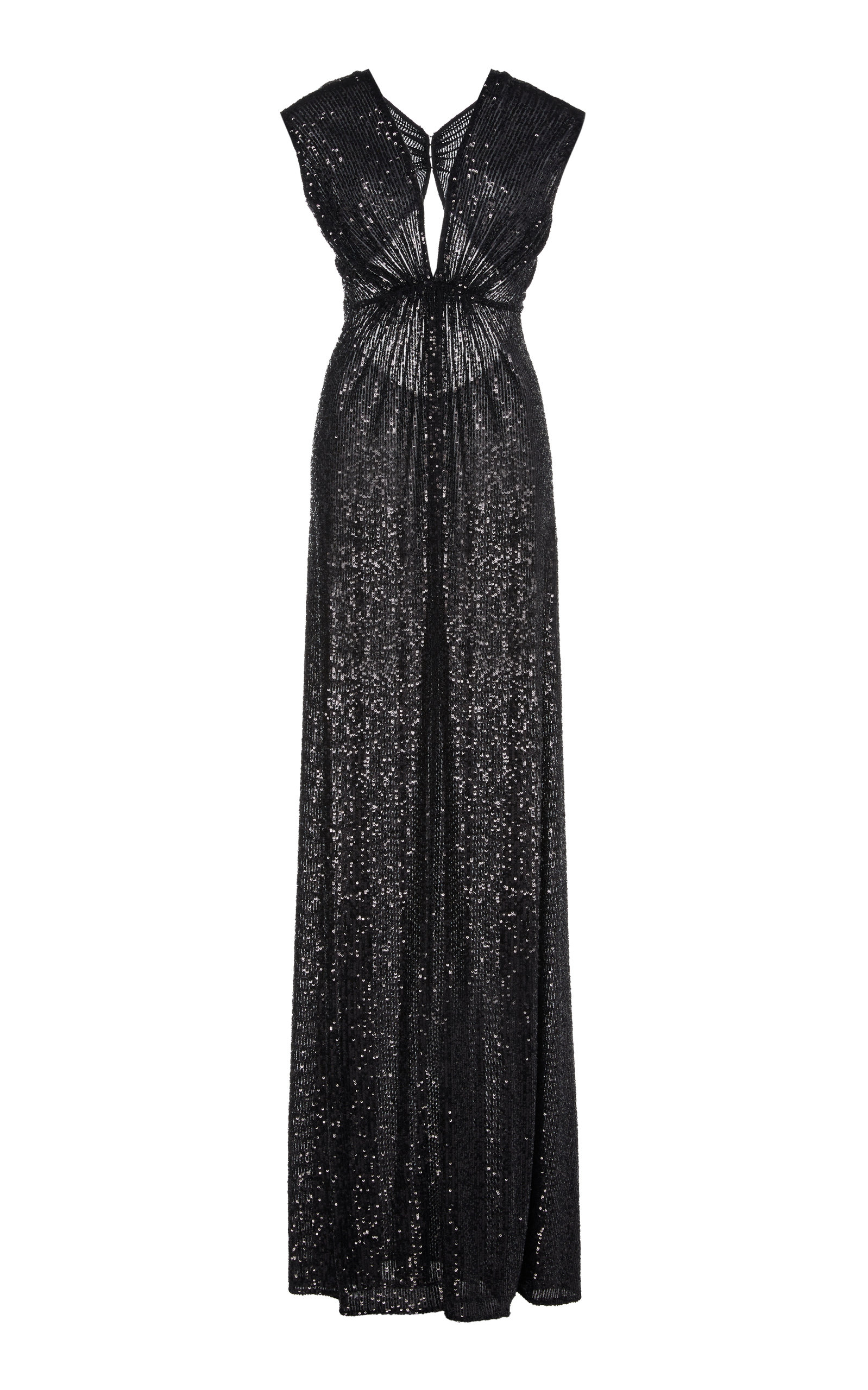Buy Naeem Khan Pleated Sequined Lamé Gown online, shop Naeem Khan at the best price