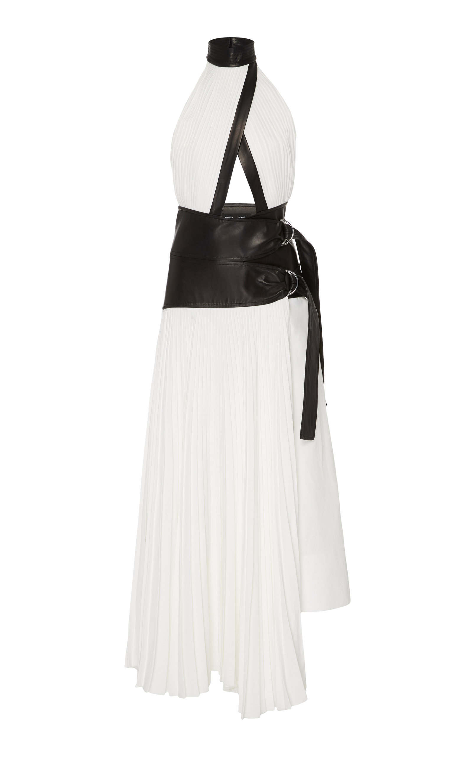 Buy Proenza Schouler Pleated Linen Wrap Dress online, shop Proenza Schouler at the best price