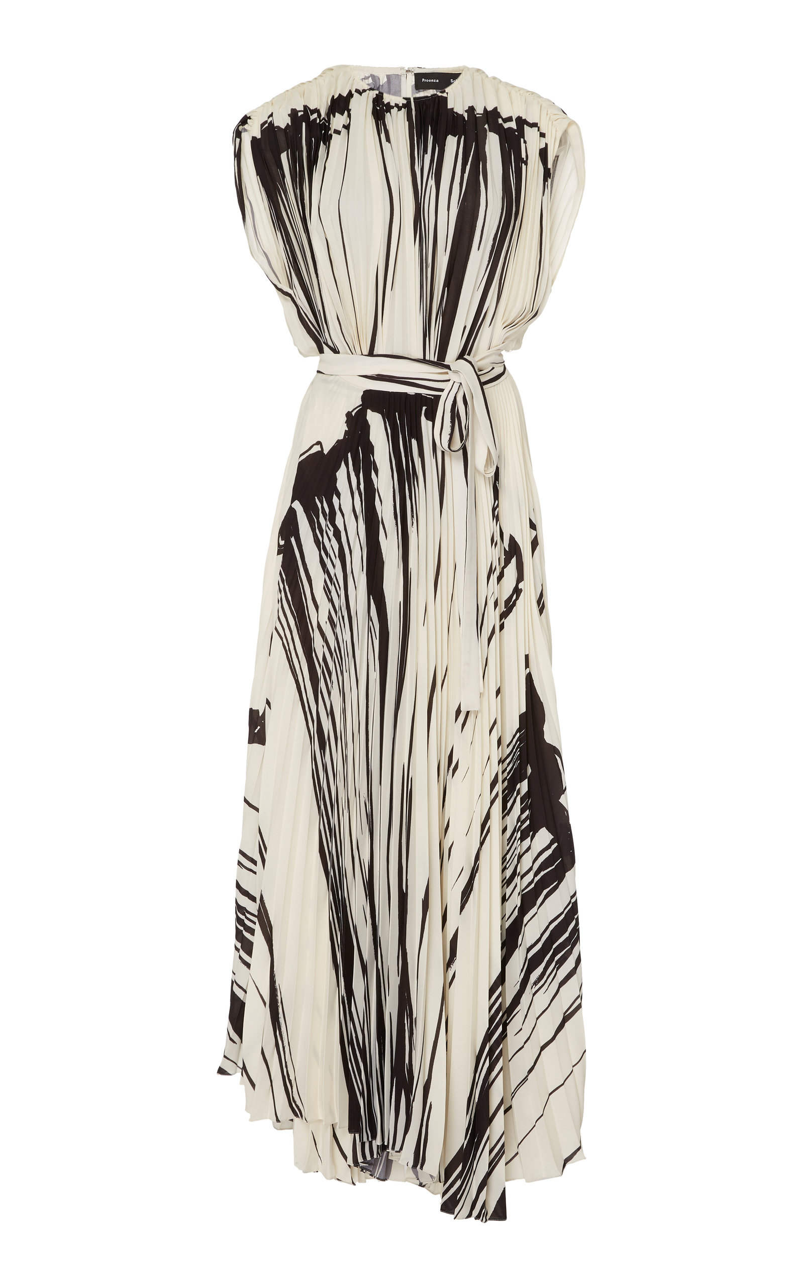 Buy Proenza Schouler Printed Pleated Chiffon Wrap Dress online, shop Proenza Schouler at the best price