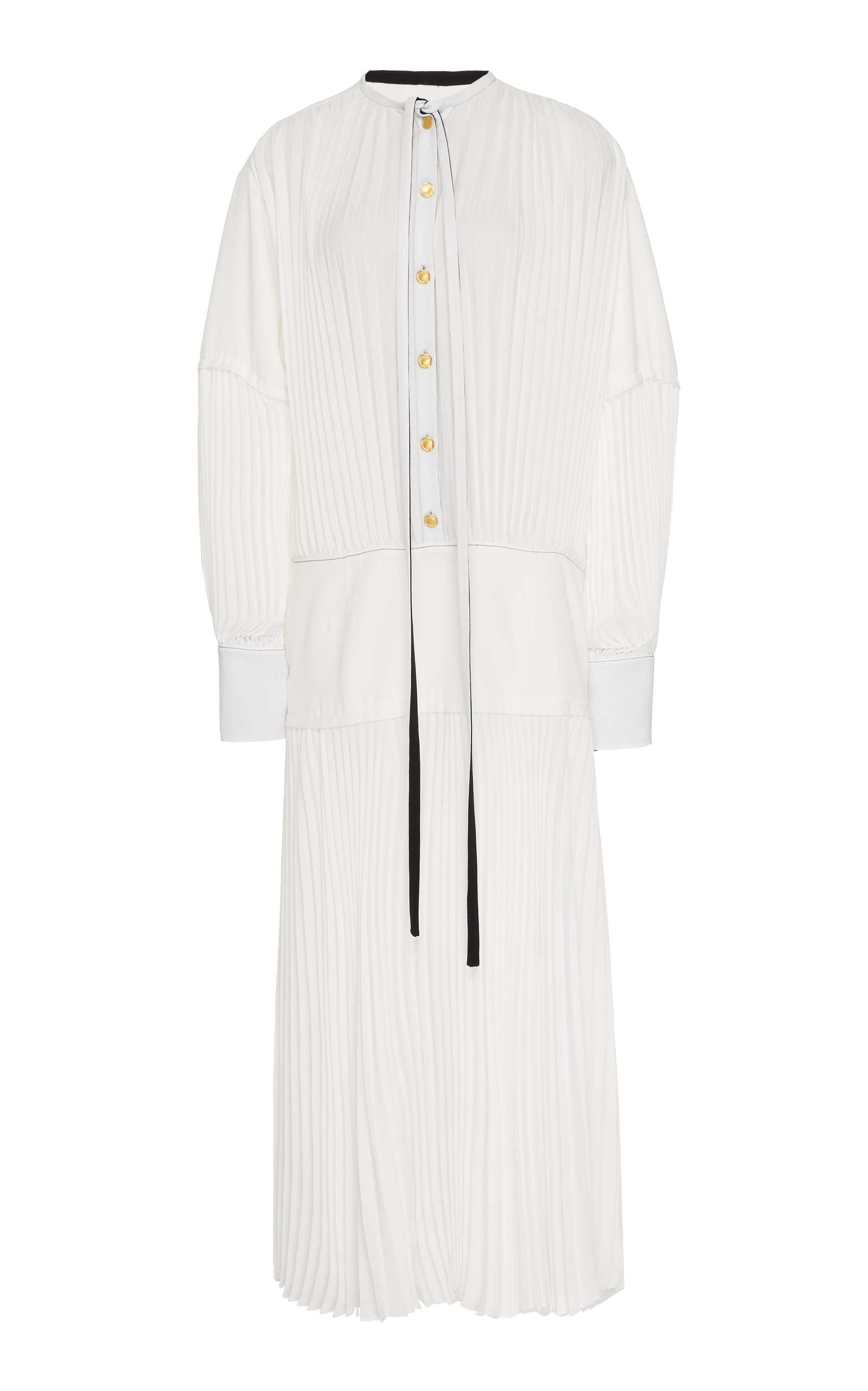 Buy Proenza Schouler Pleated Chiffon Midi Dress online, shop Proenza Schouler at the best price