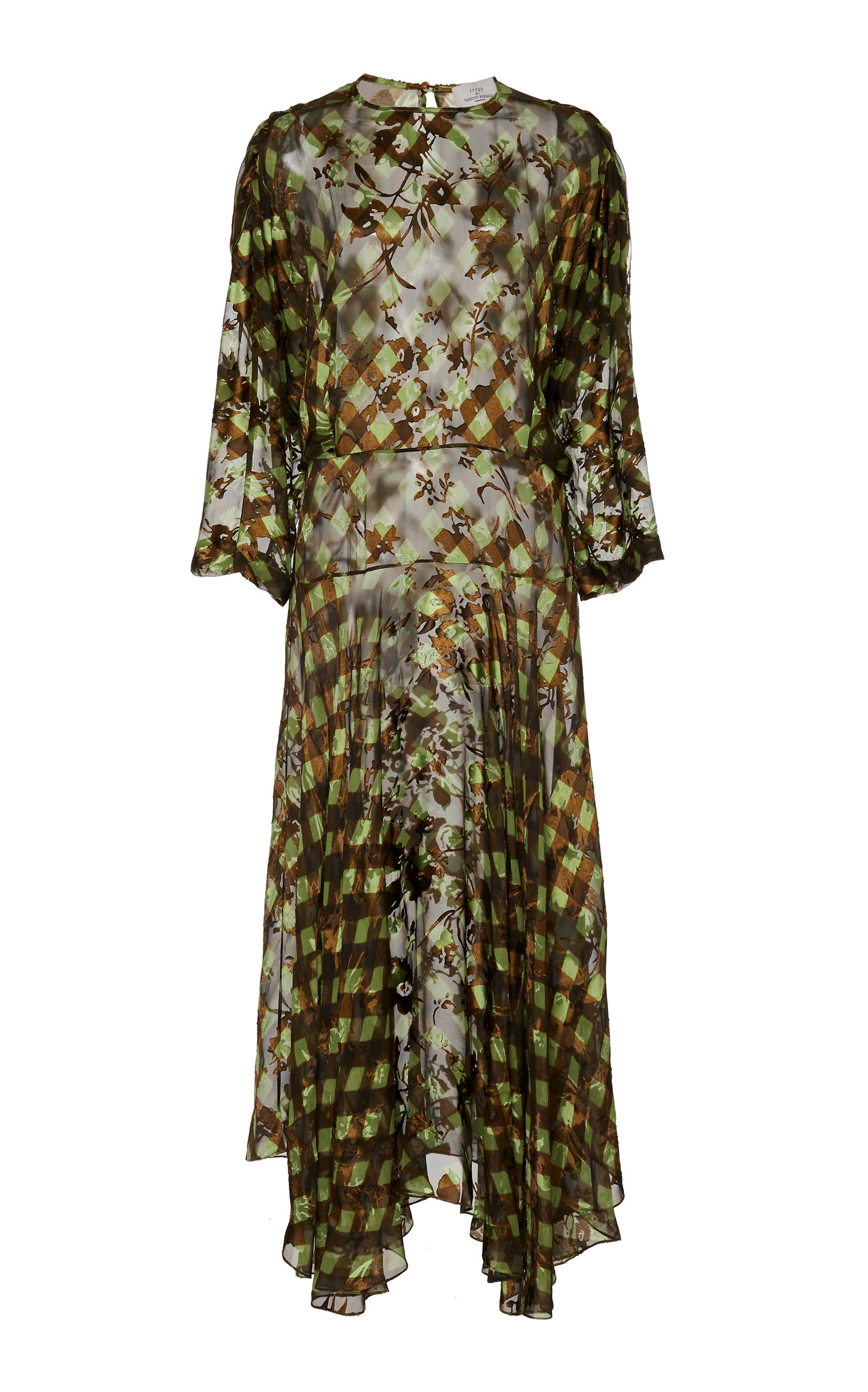 Buy Preen by Thornton Bregazzi Brooke Asymmetric Printed Silk-Blend Midi D online, shop Preen by Thornton Bregazzi at the best price