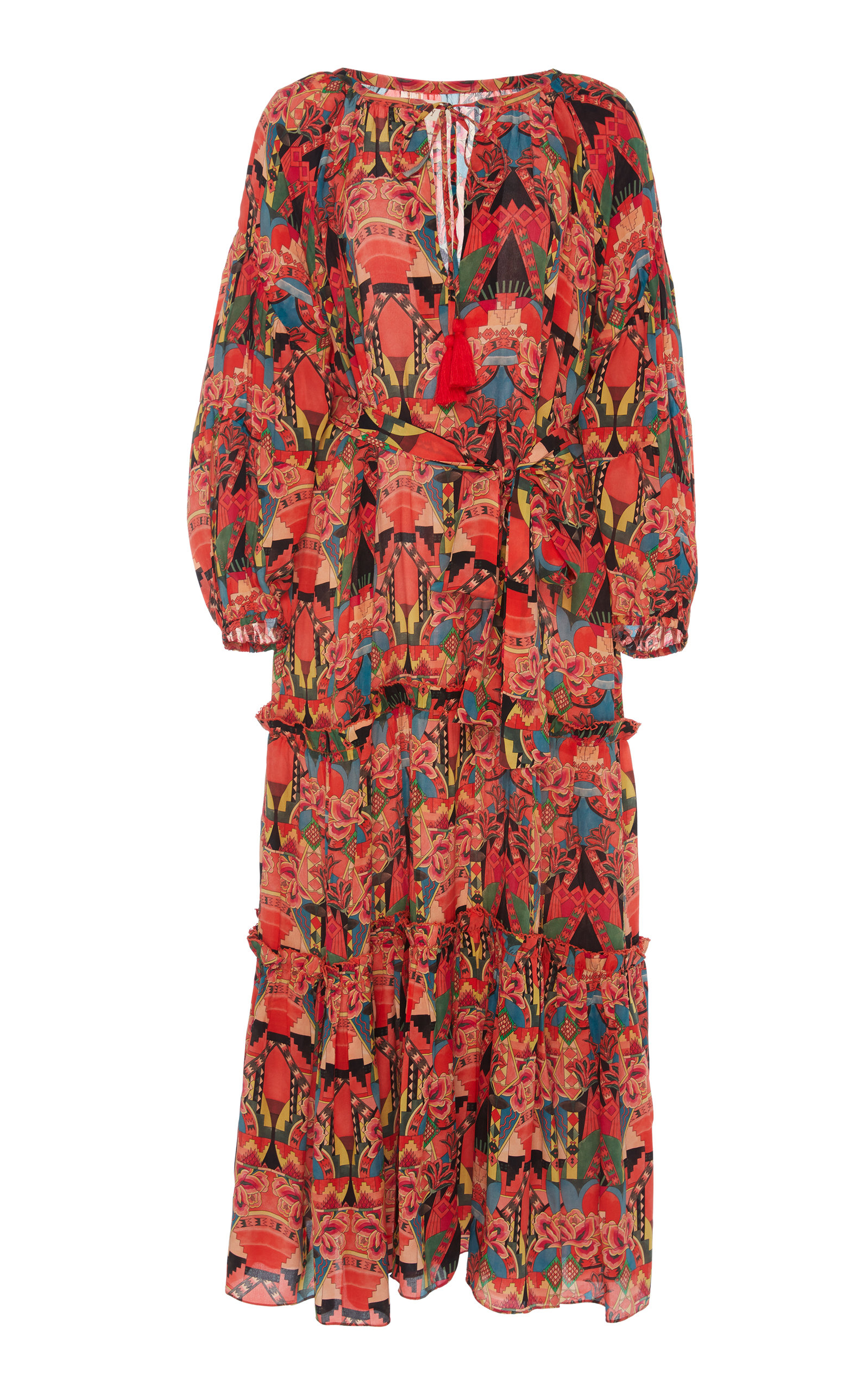 Buy Chufy Wayta Ruffled Broadcloth Maxi Dress online, shop Chufy at the best price