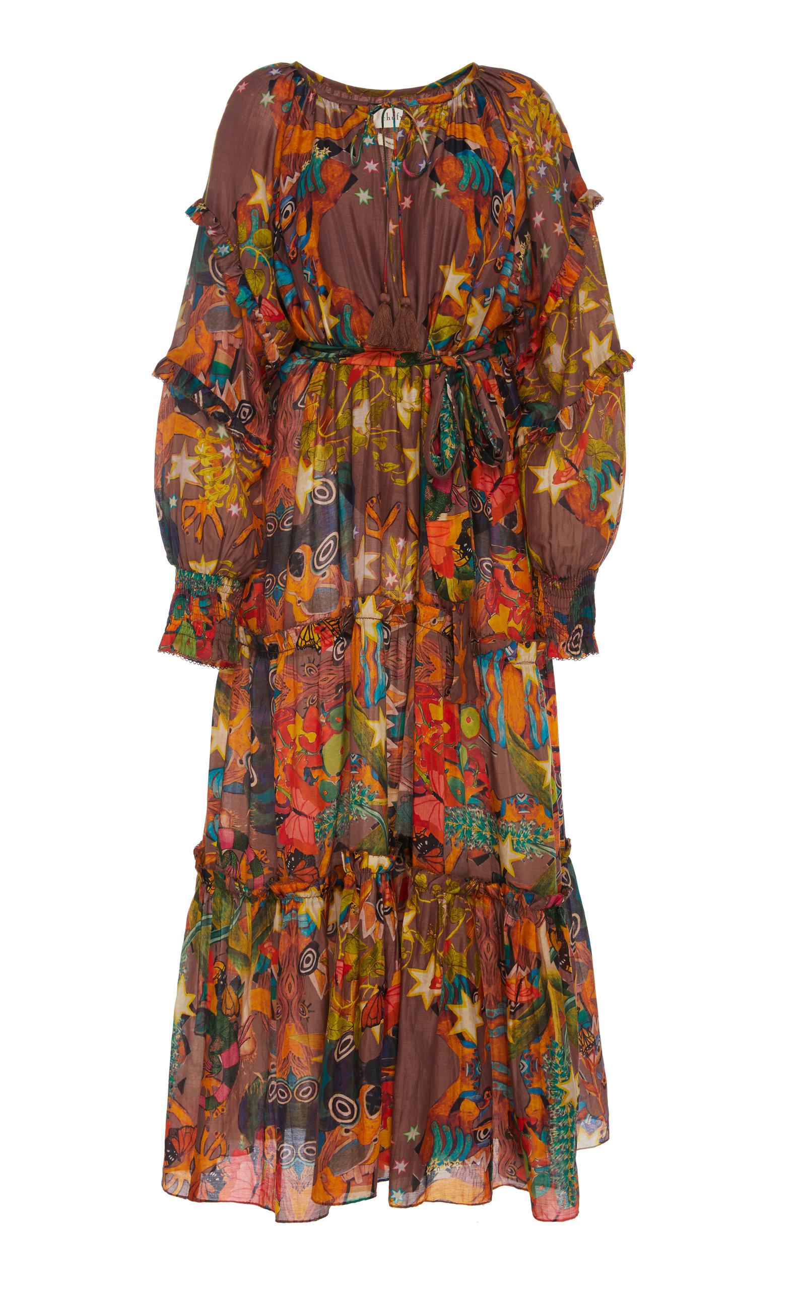 Buy Chufy Khuyana Printed Cotton-Silk Dress online, shop Chufy at the best price