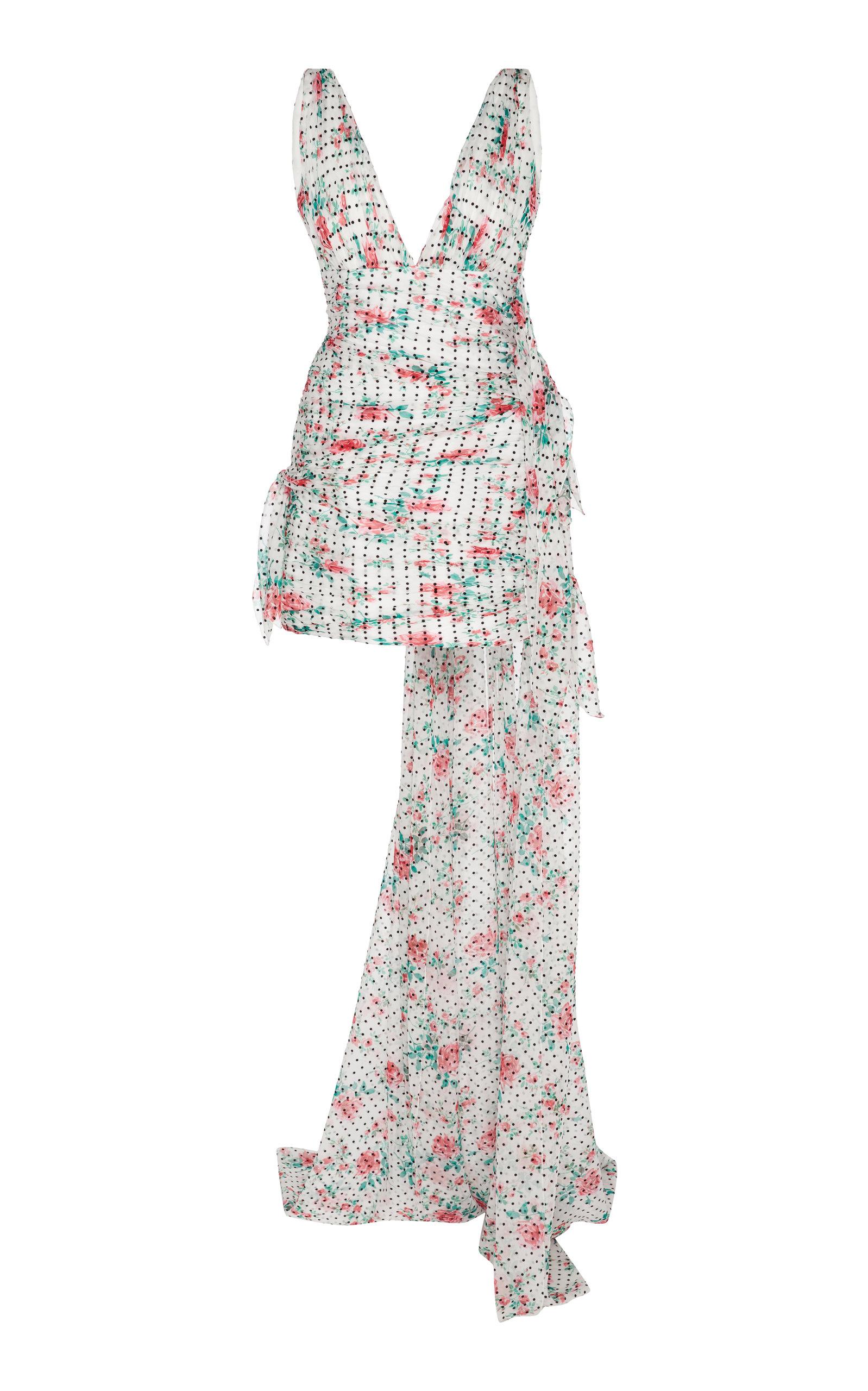 Buy Philosophy di Lorenzo Serafini Patterned Chiffon Gown online, shop Philosophy di Lorenzo Serafini at the best price