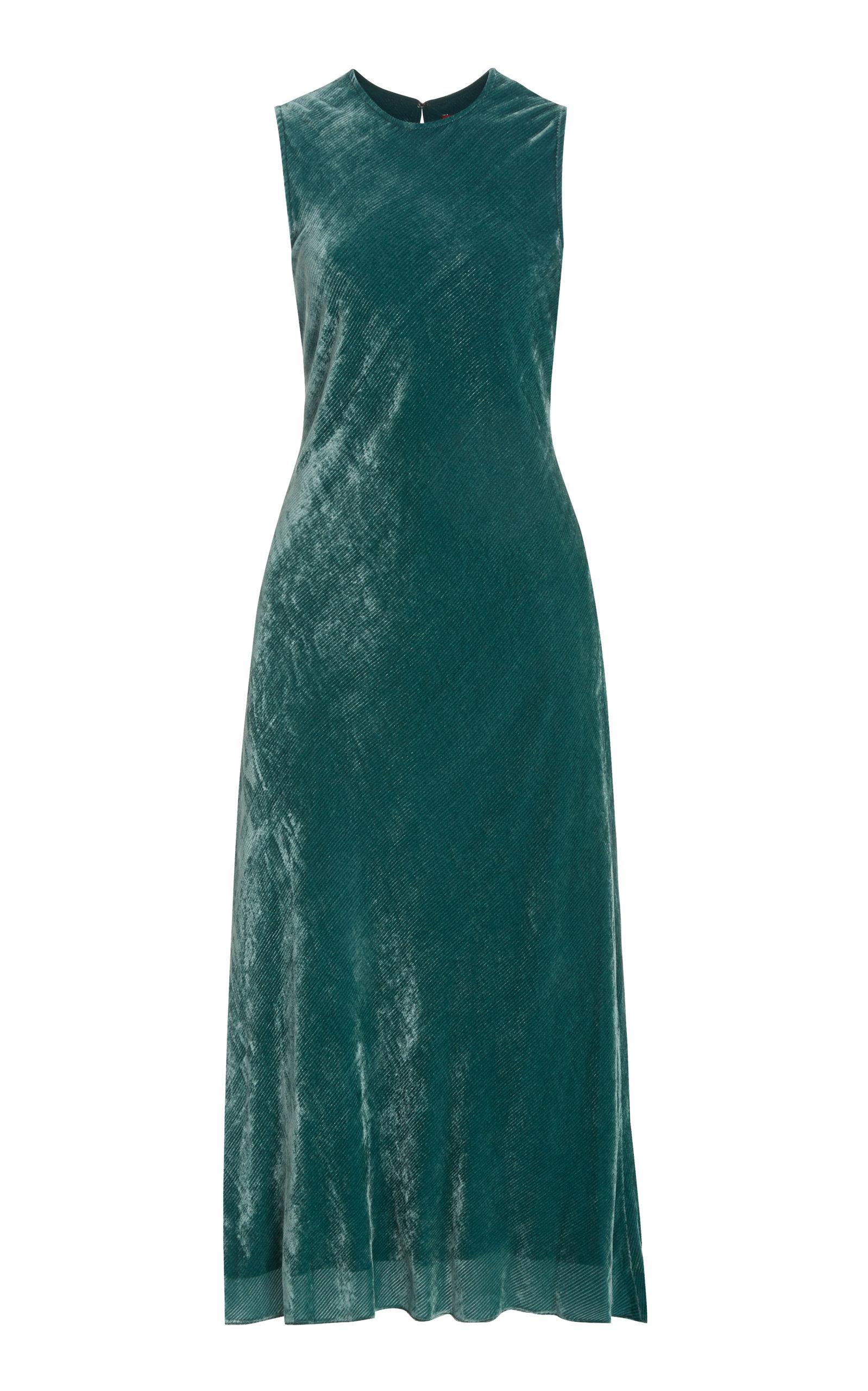 Buy Sies Marjan Viv Silk-Cotton Velvet Corduroy Midi Dress online, shop Sies Marjan at the best price