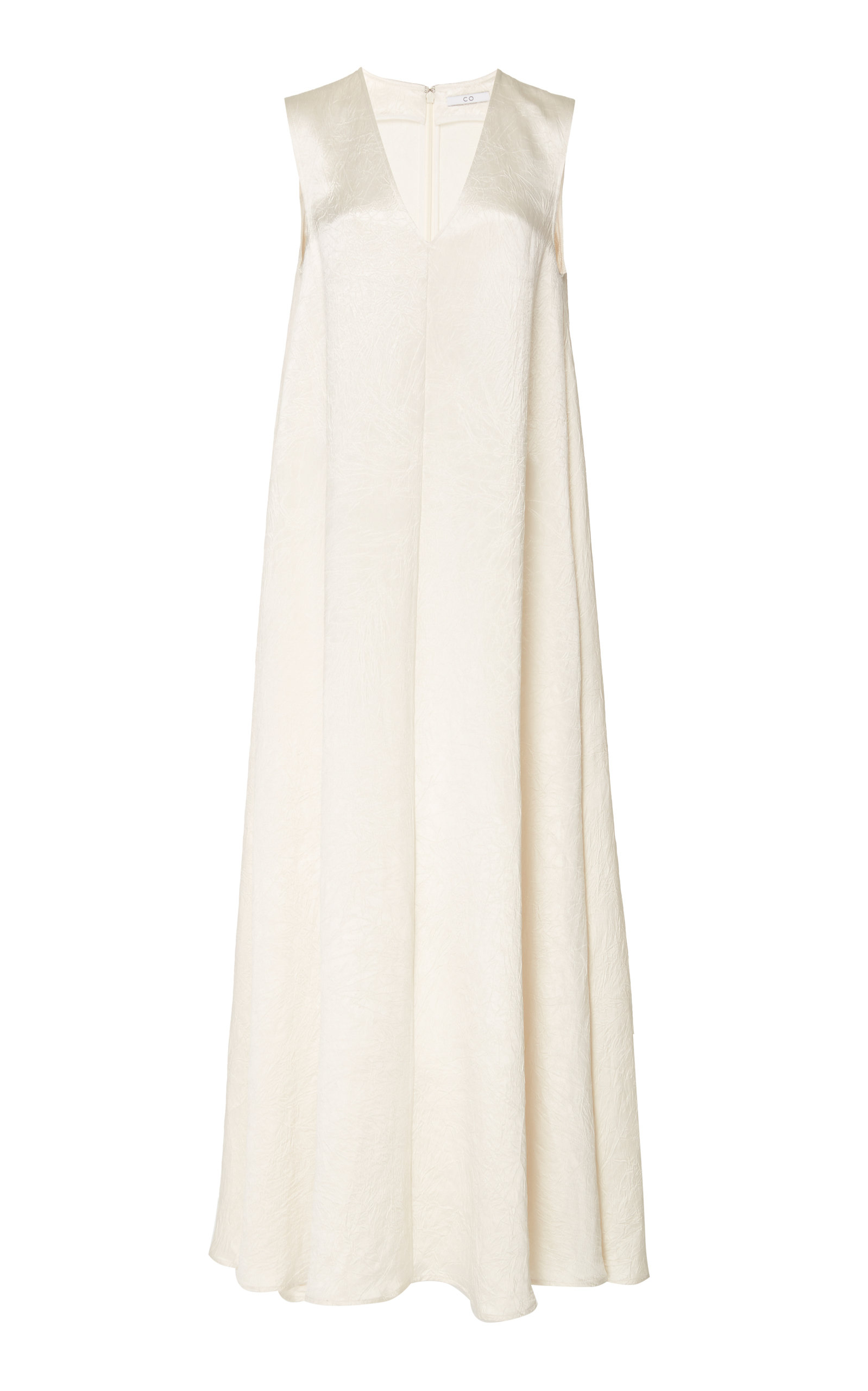 Buy Co Crinkled Satin Sleeveless Maxi Dress online, shop Co at the best price