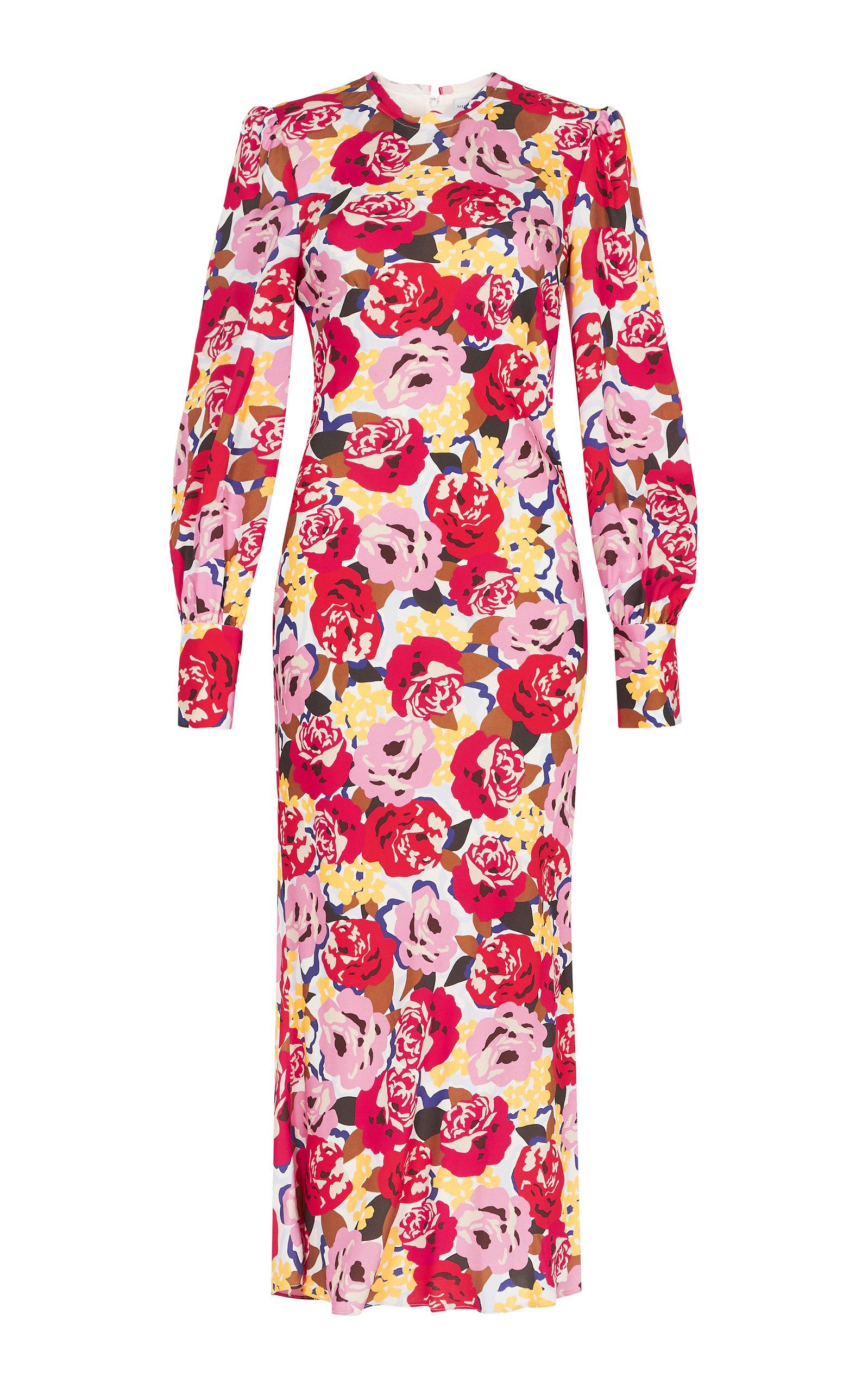 Buy Rebecca Vallance Blume Long Sleeve Midi Dress online, shop Rebecca Vallance at the best price