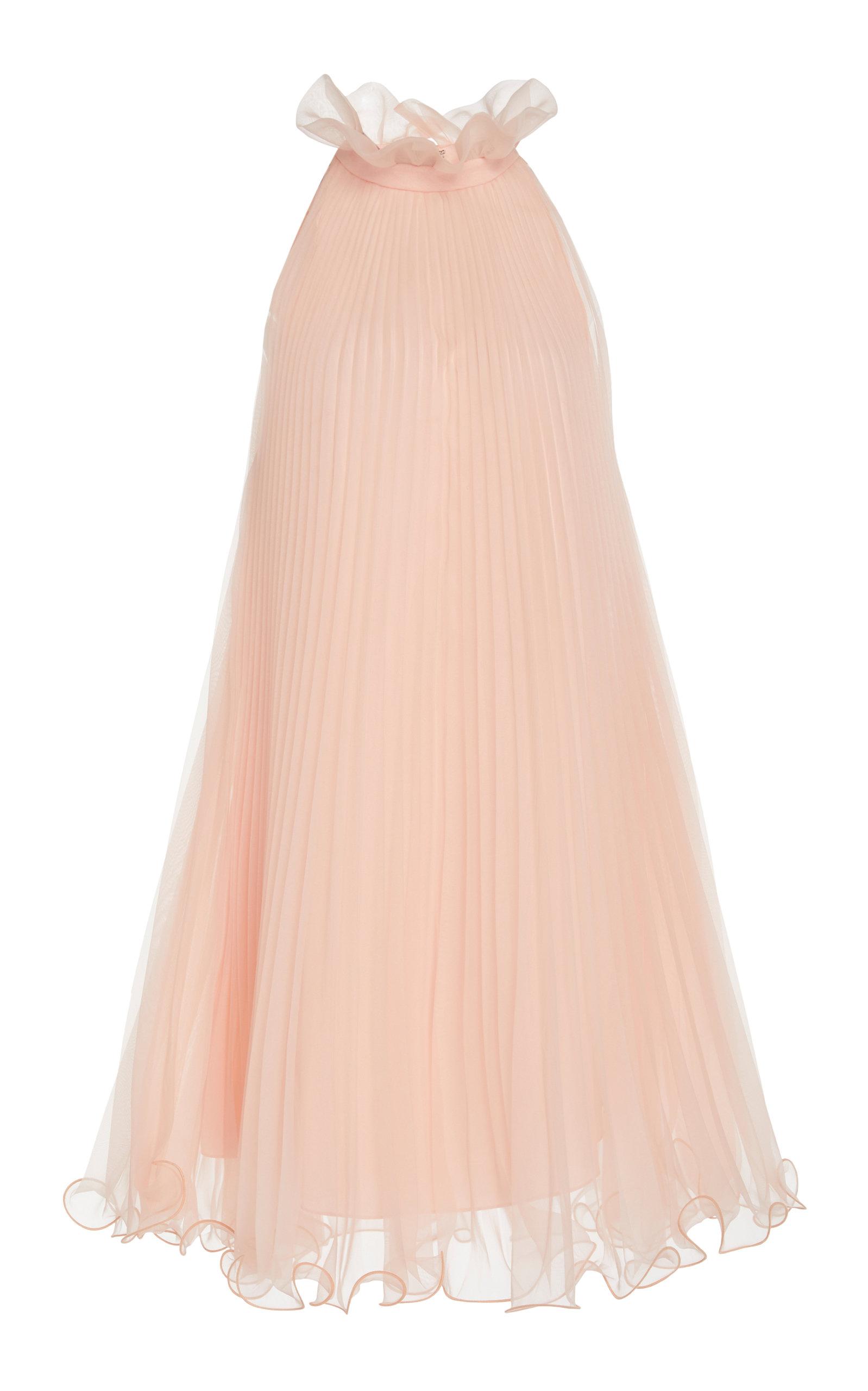 Buy Monique Lhuillier Pleated Chiffon Mini Dress online, shop Monique Lhuillier at the best price