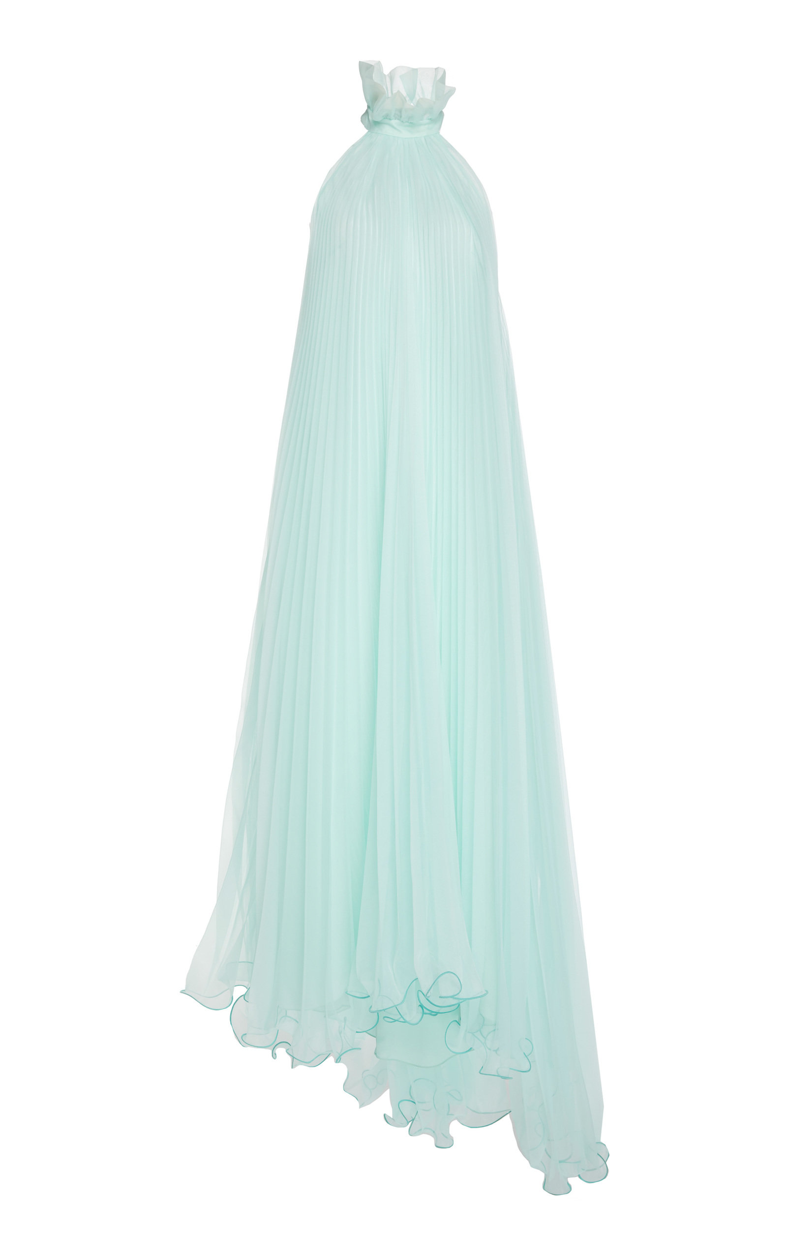 Buy Monique Lhuillier Asymmetric Pleated Chiffon Dress online, shop Monique Lhuillier at the best price