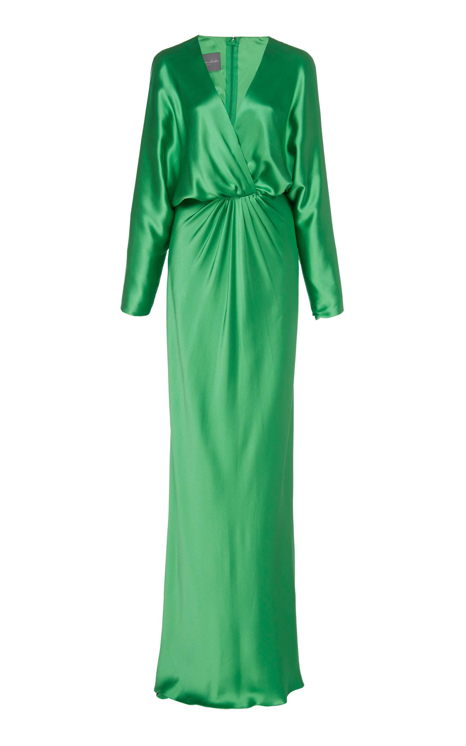Buy Monique Lhuillier Dolman-Sleeve Crepe Gown online, shop Monique Lhuillier at the best price