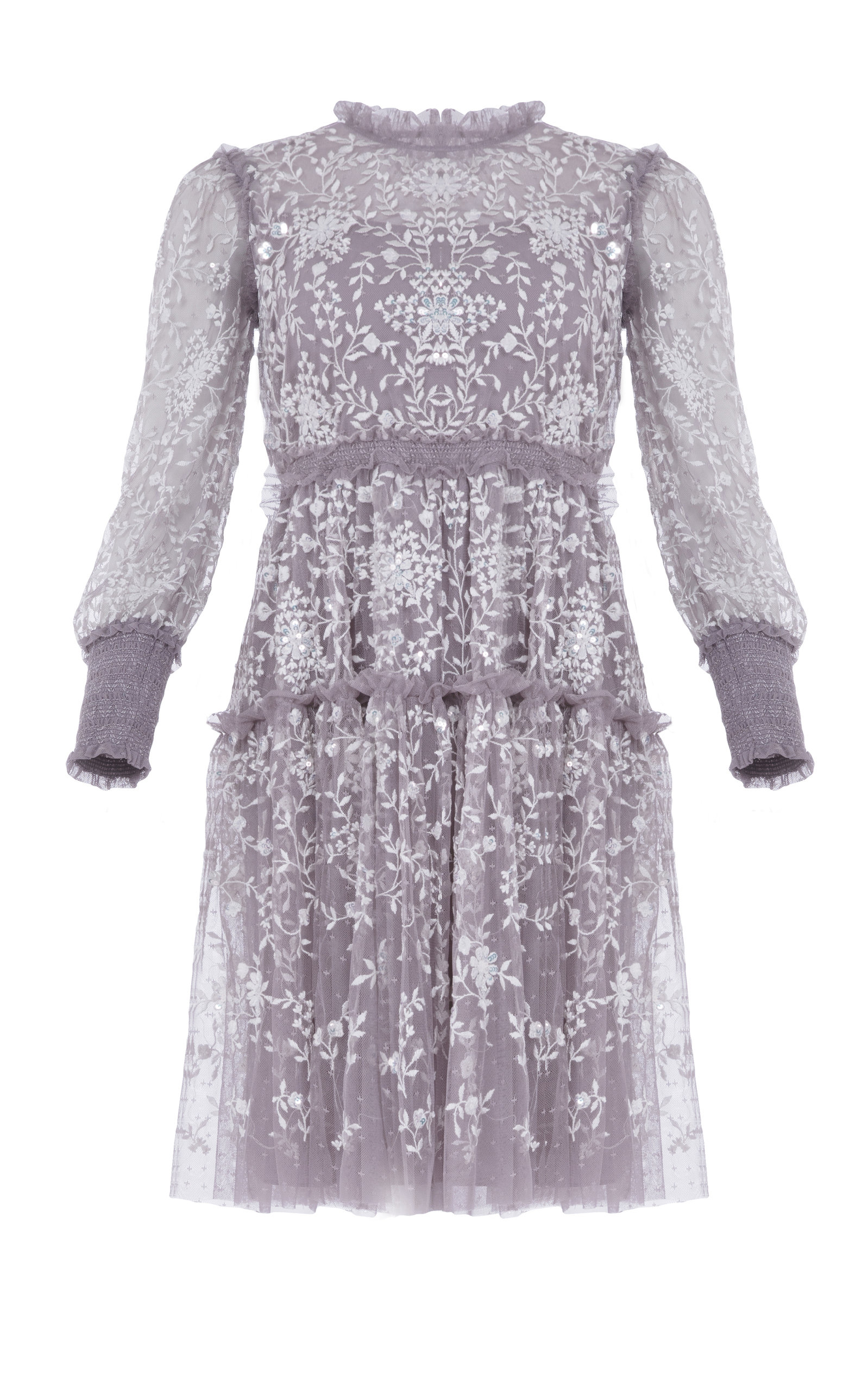 Buy Needle & Thread Whitethorn Embroidered Mini Dress online, shop Needle & Thread at the best price