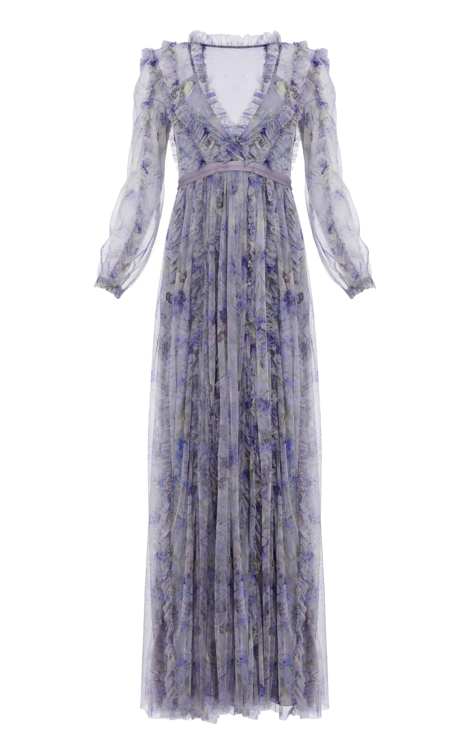 Buy Needle & Thread Lilacs Ruffled Maxi Dress online, shop Needle & Thread at the best price