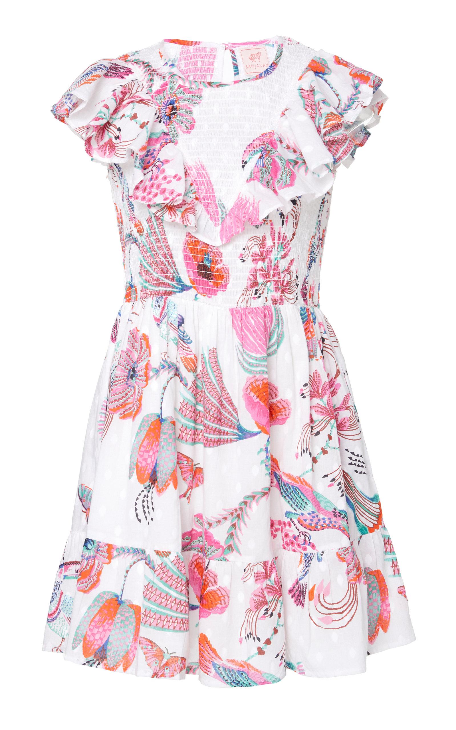 Buy Banjanan Ilona Floral-Printed Cotton Mini Dress online, shop Banjanan at the best price