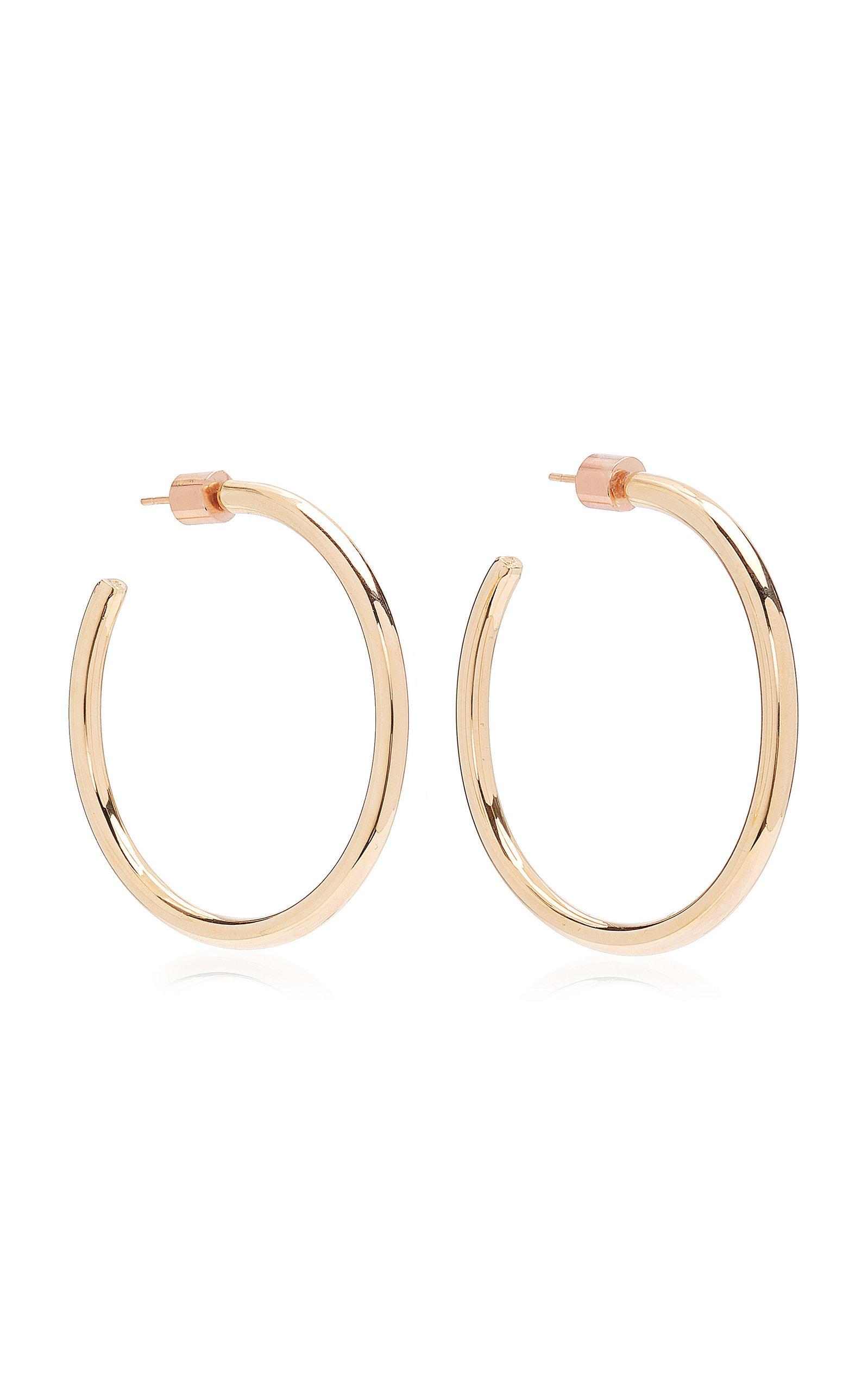 Women's Baby Classic 14K Rose Gold-Plated Hoop Earrings