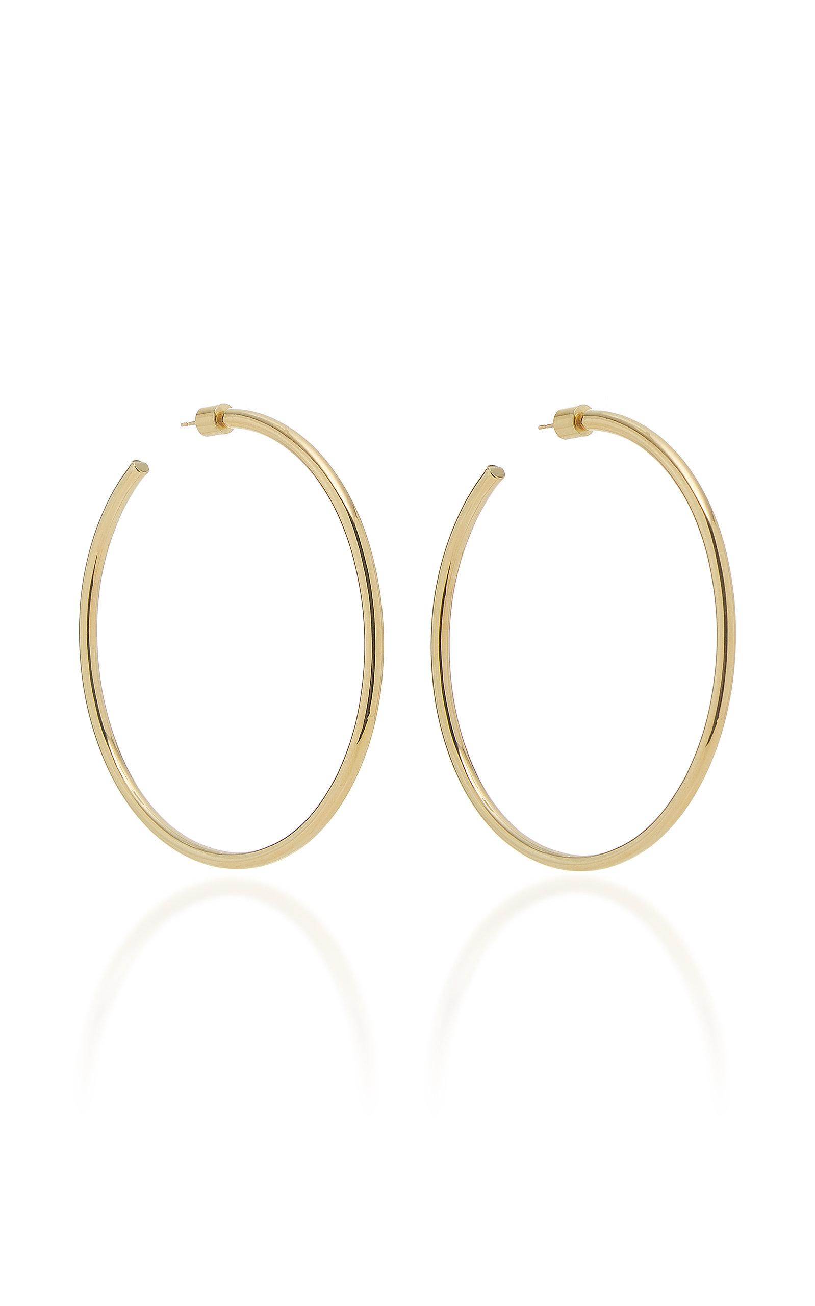 Women's Classic 14K Rose Gold Hoop Earrings