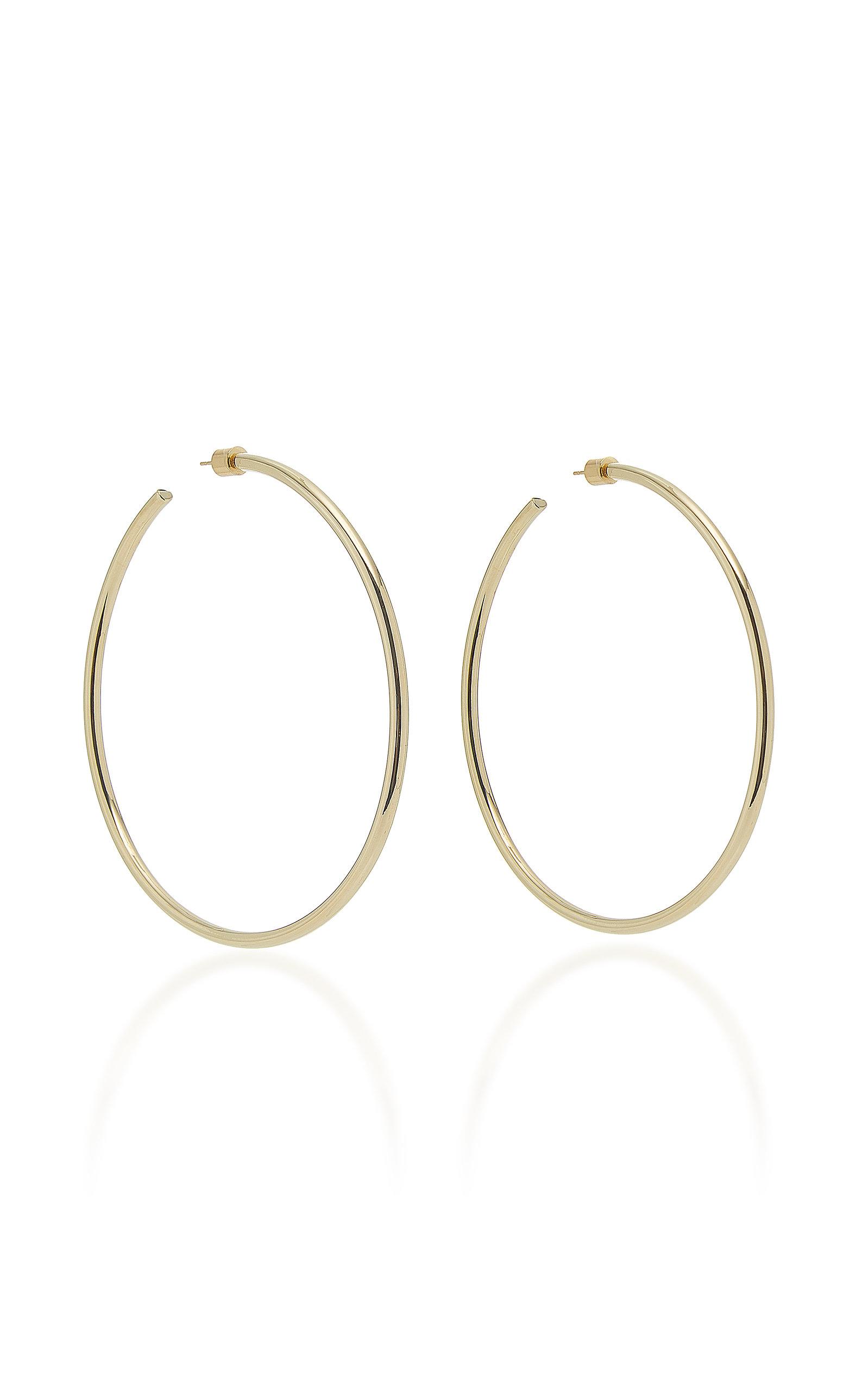 Women's Classic 14K Gold-Plated Hoop Earrings