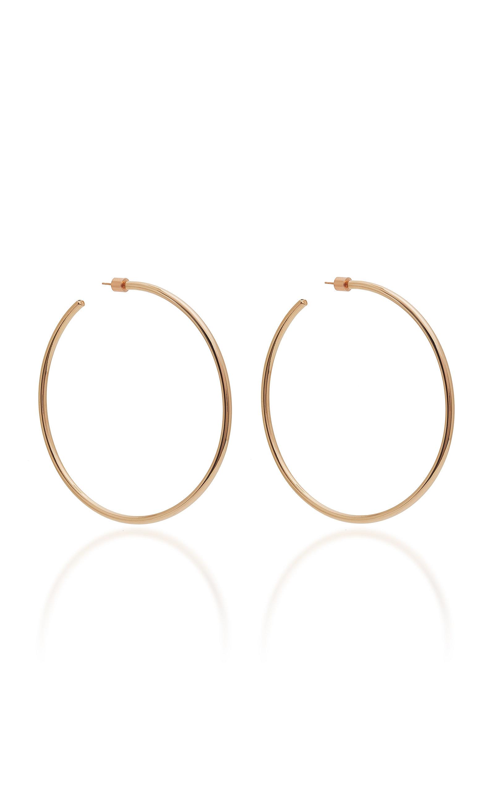 Women's Classic 14K Rose Gold-Plated Hoop Earrings
