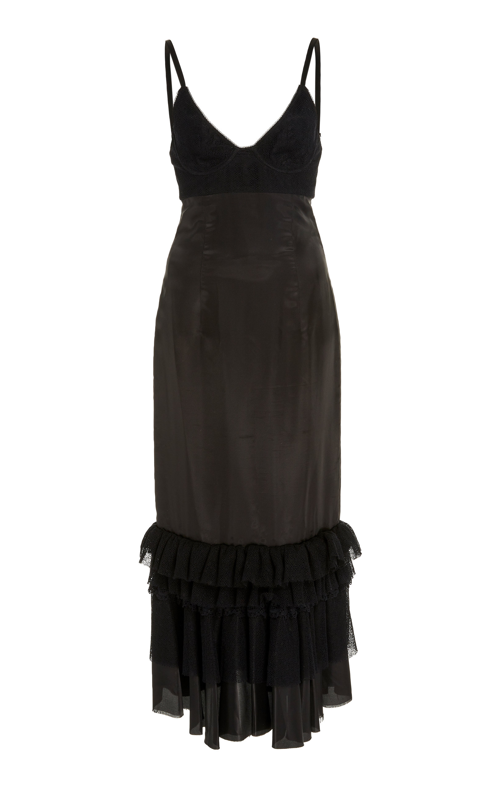Buy Brock Collection Bustier Ruffled Midi Dress online, shop Brock Collection at the best price