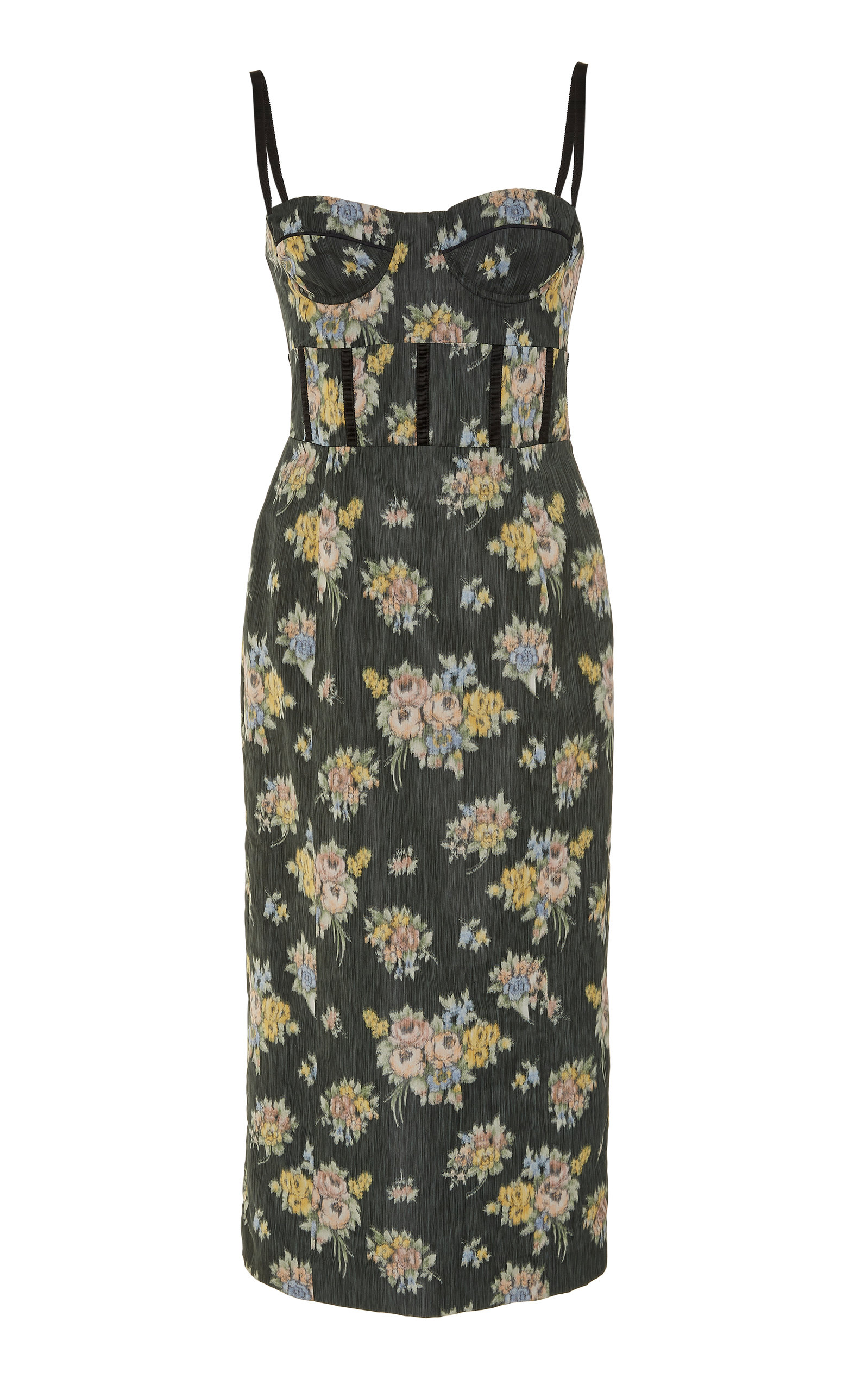 Buy Brock Collection Floral-Print Silk-Georgette Midi Dress online, shop Brock Collection at the best price