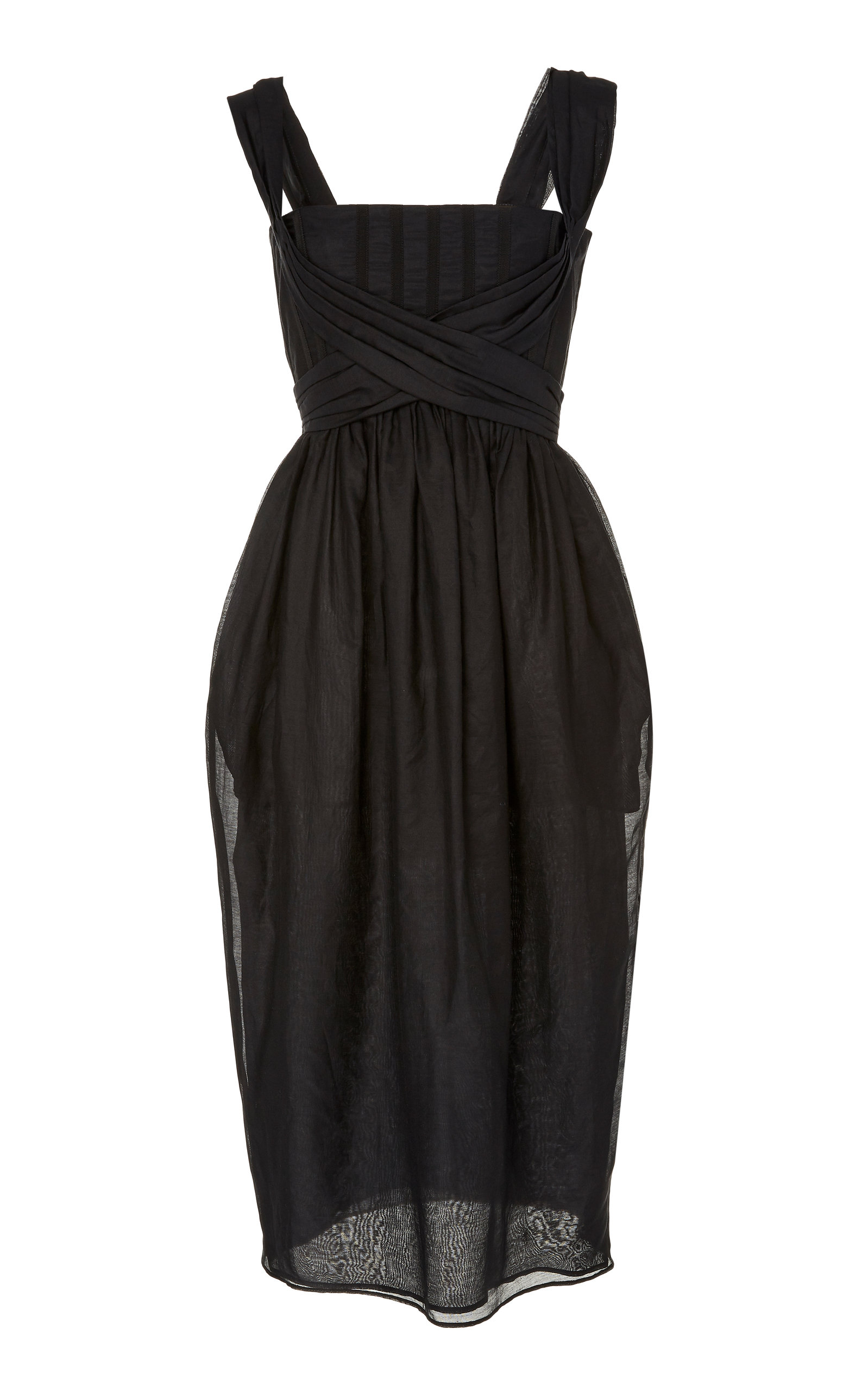 Buy Brock Collection Cotton-Gauze Midi Dress online, shop Brock Collection at the best price