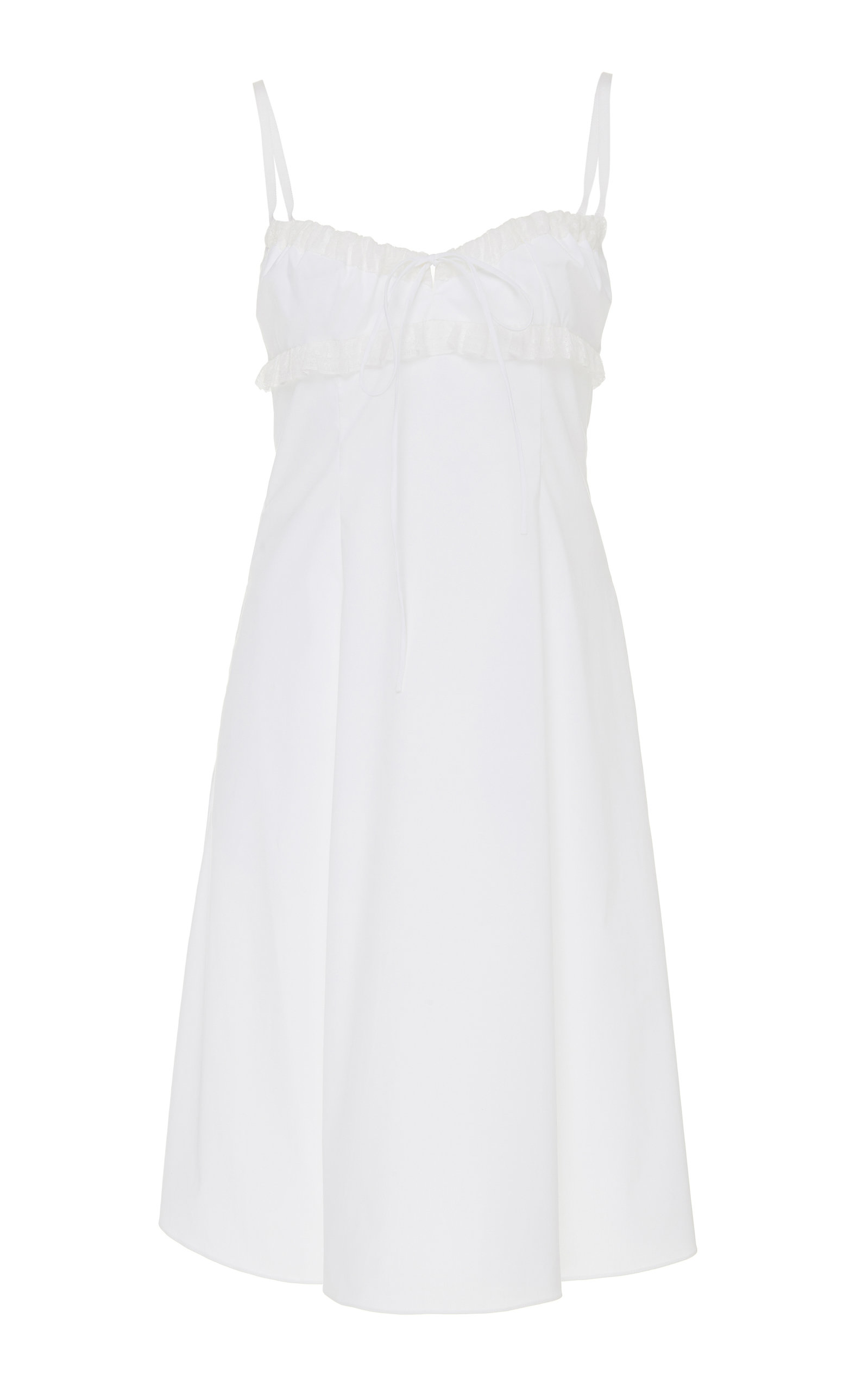 Buy Brock Collection Ruffle-Trimmed Cotton-Blend Midi Dress online, shop Brock Collection at the best price