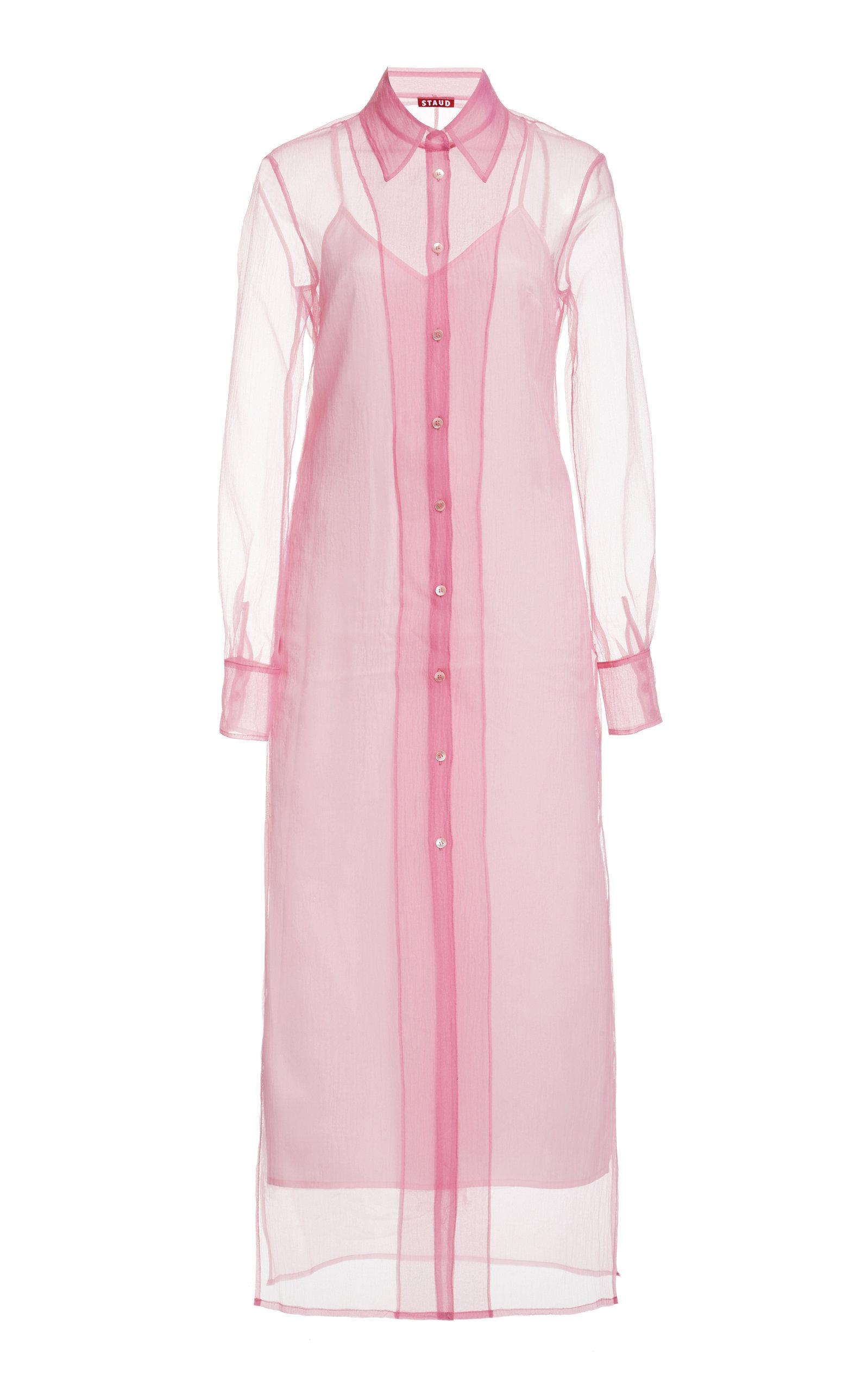 Buy Staud Frank Crepe Organza Midi Dress online, shop Staud at the best price