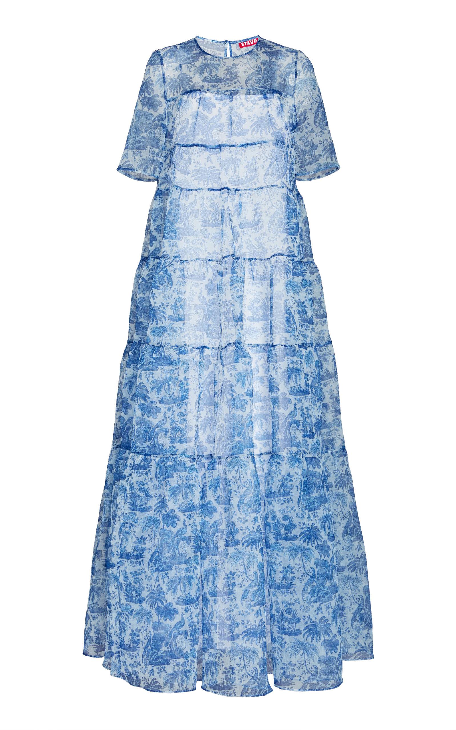 Buy Staud Hyacinth Crepe-Organza Dress online, shop Staud at the best price