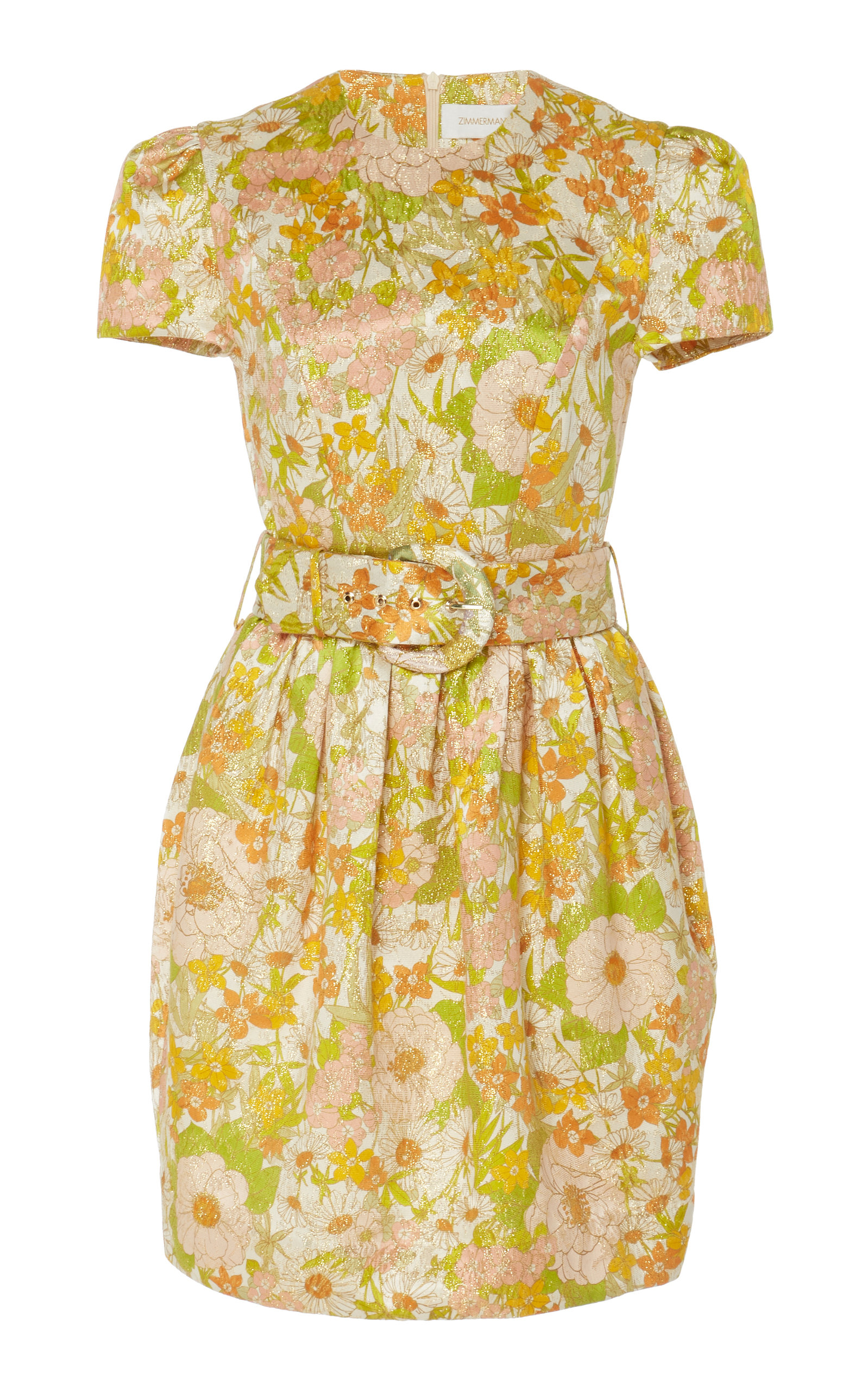 Buy Zimmermann Belted Floral-Print Cotton And Silk-Blend Dress online, shop Zimmermann at the best price