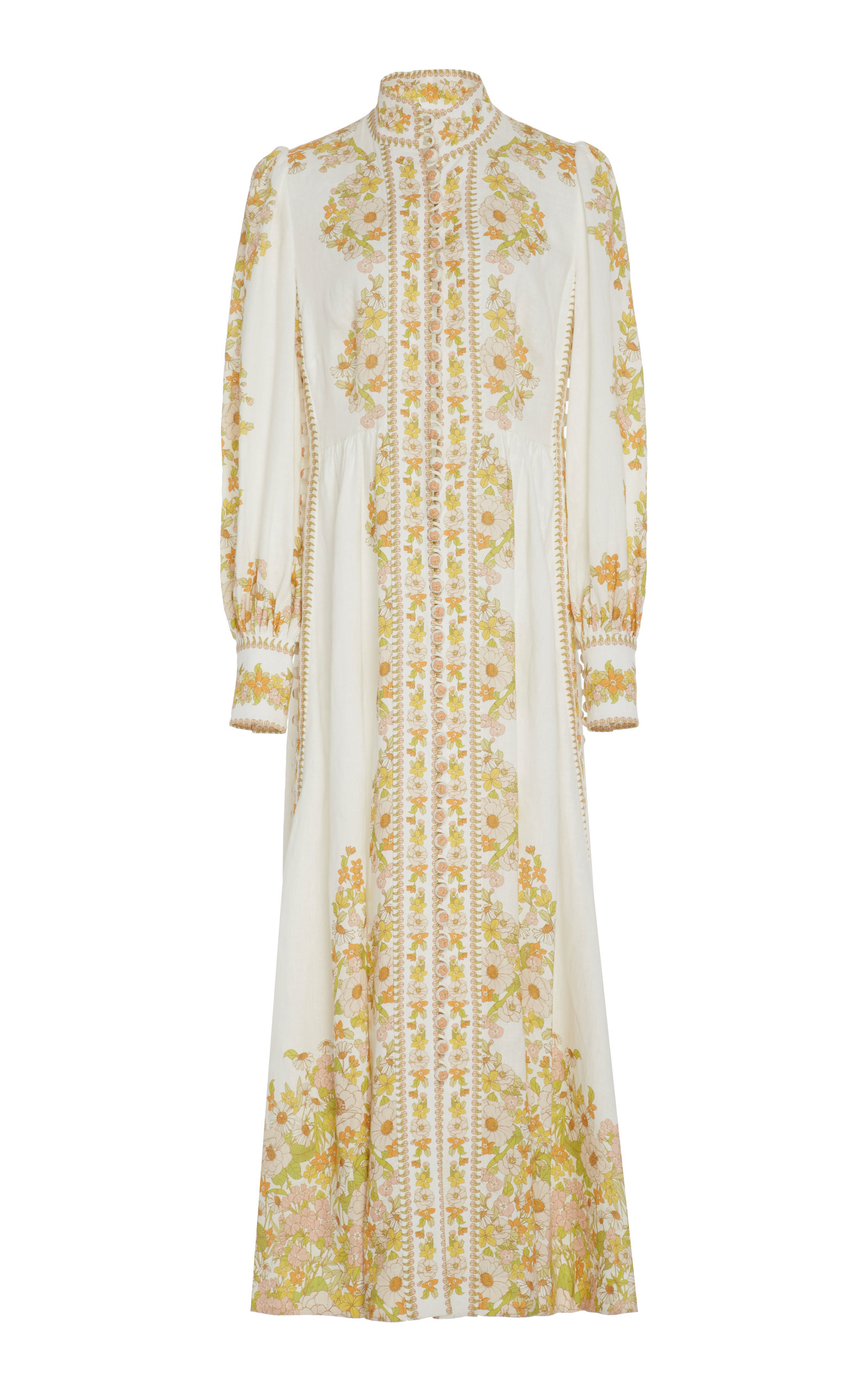 Buy Zimmermann Floral-Print Linen Maxi Dress online, shop Zimmermann at the best price
