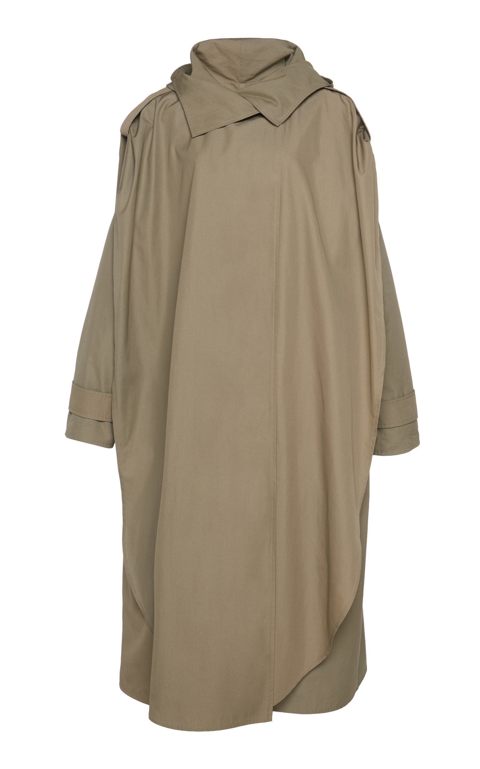 Bottega Veneta - Women's Oversized Layered Cotton Trench  - Neutral - Moda Operandi