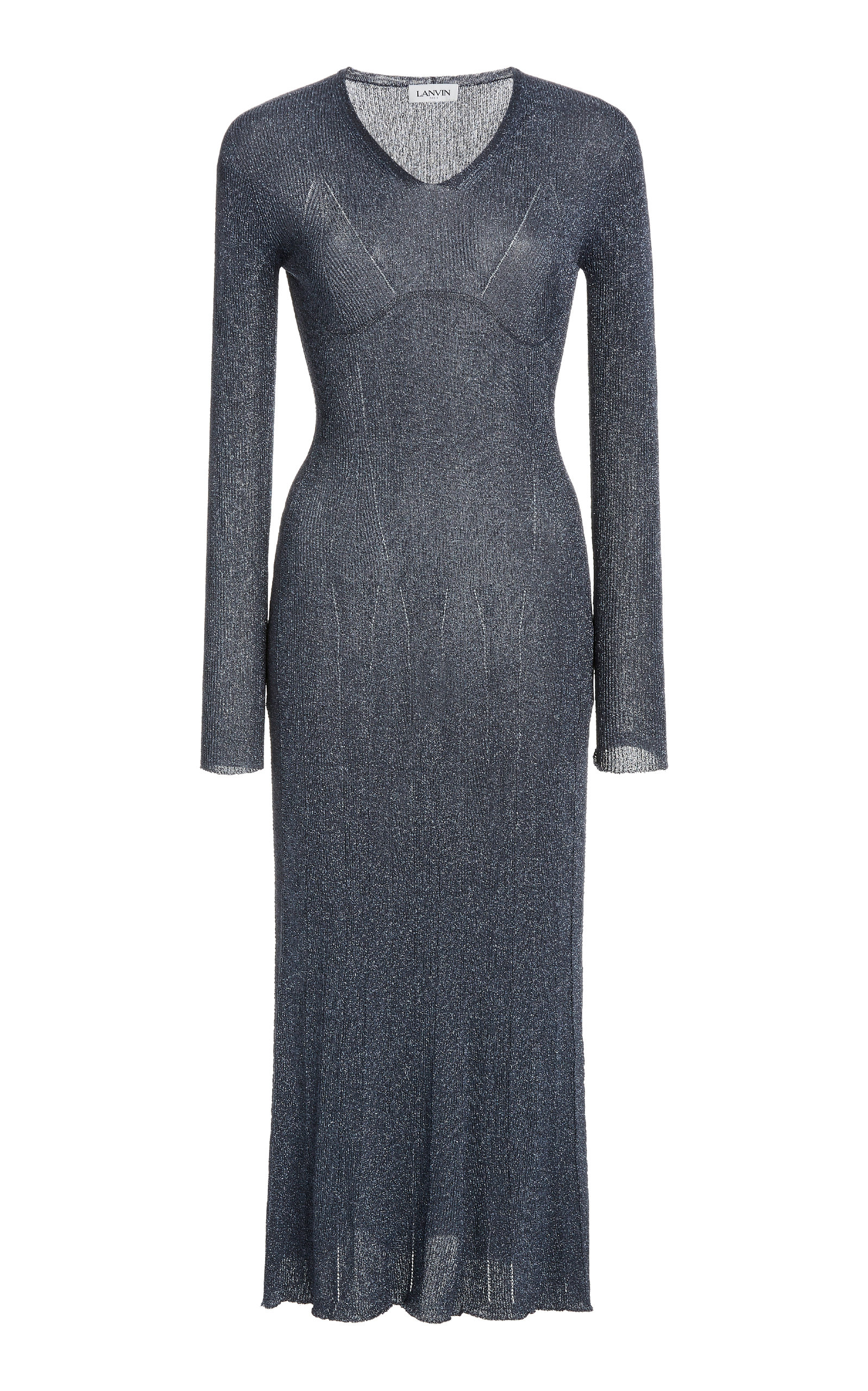 Buy Lanvin Knitted Lurex Midi Dress online, shop Lanvin at the best price