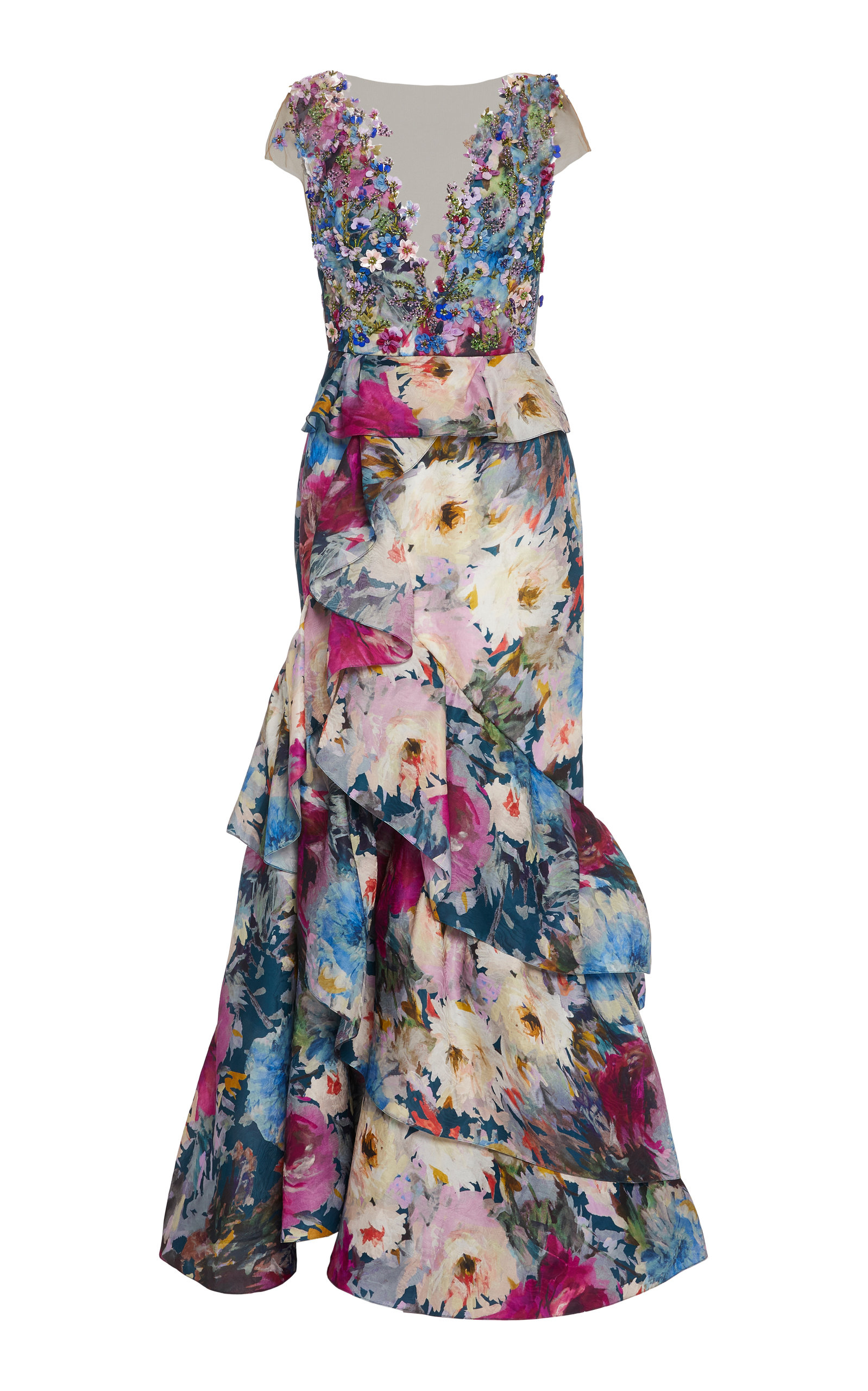 Buy Marchesa Bead-Embellished Organza Gown online, shop Marchesa at the best price