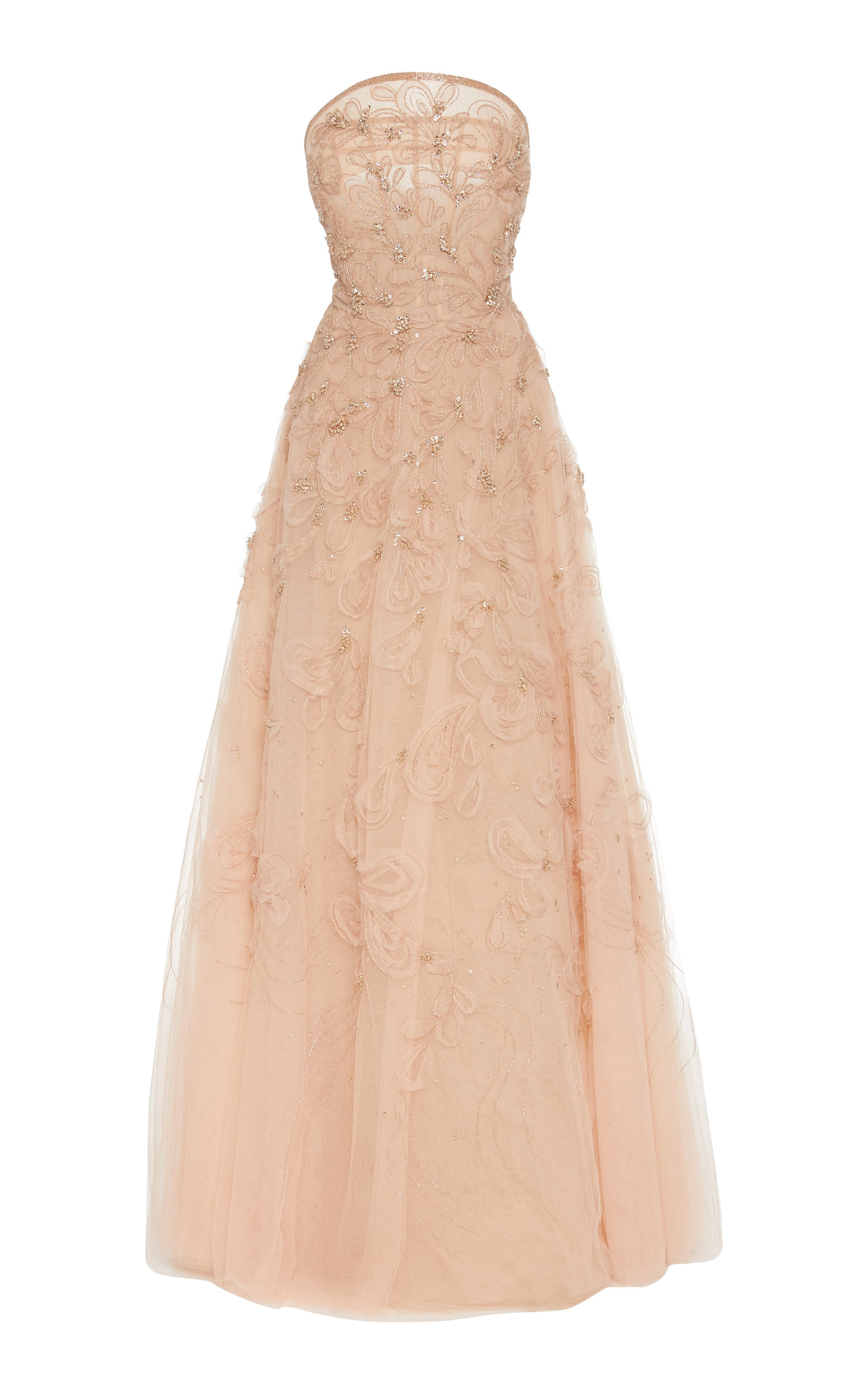Buy Marchesa Embellished Organza Strapless Gown online, shop Marchesa at the best price